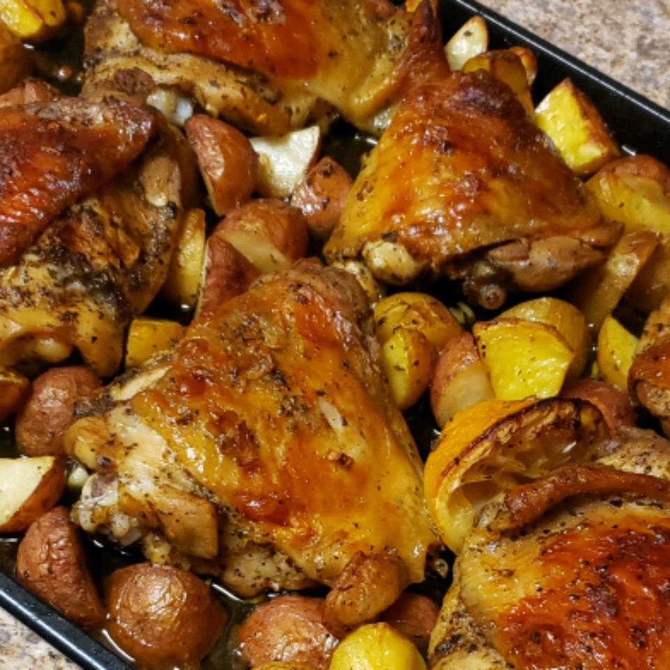 Greek Lemon Chicken and Potatoes Eugenia Anderson