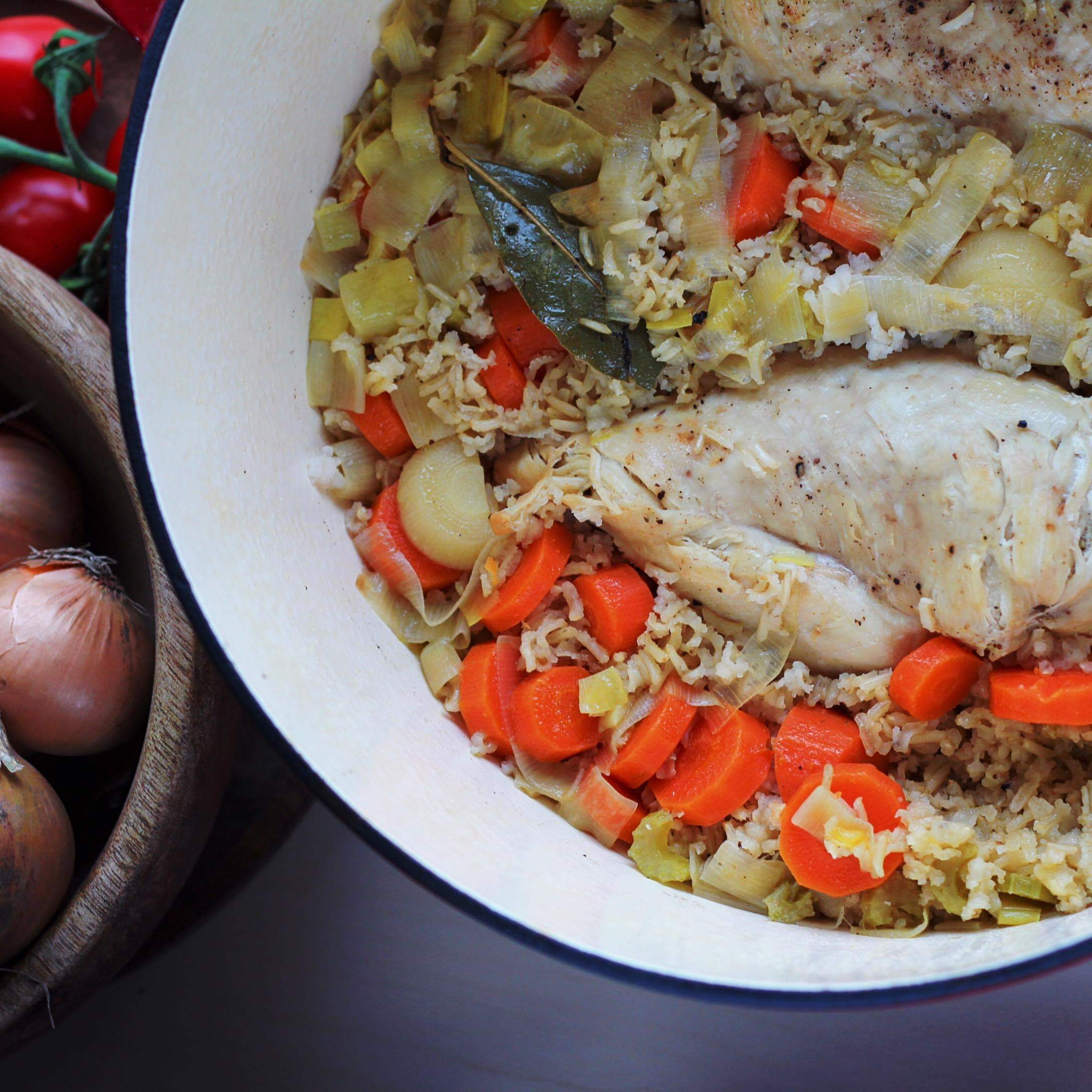 One-Pot Chicken and Brown Rice Buckwheat Queen