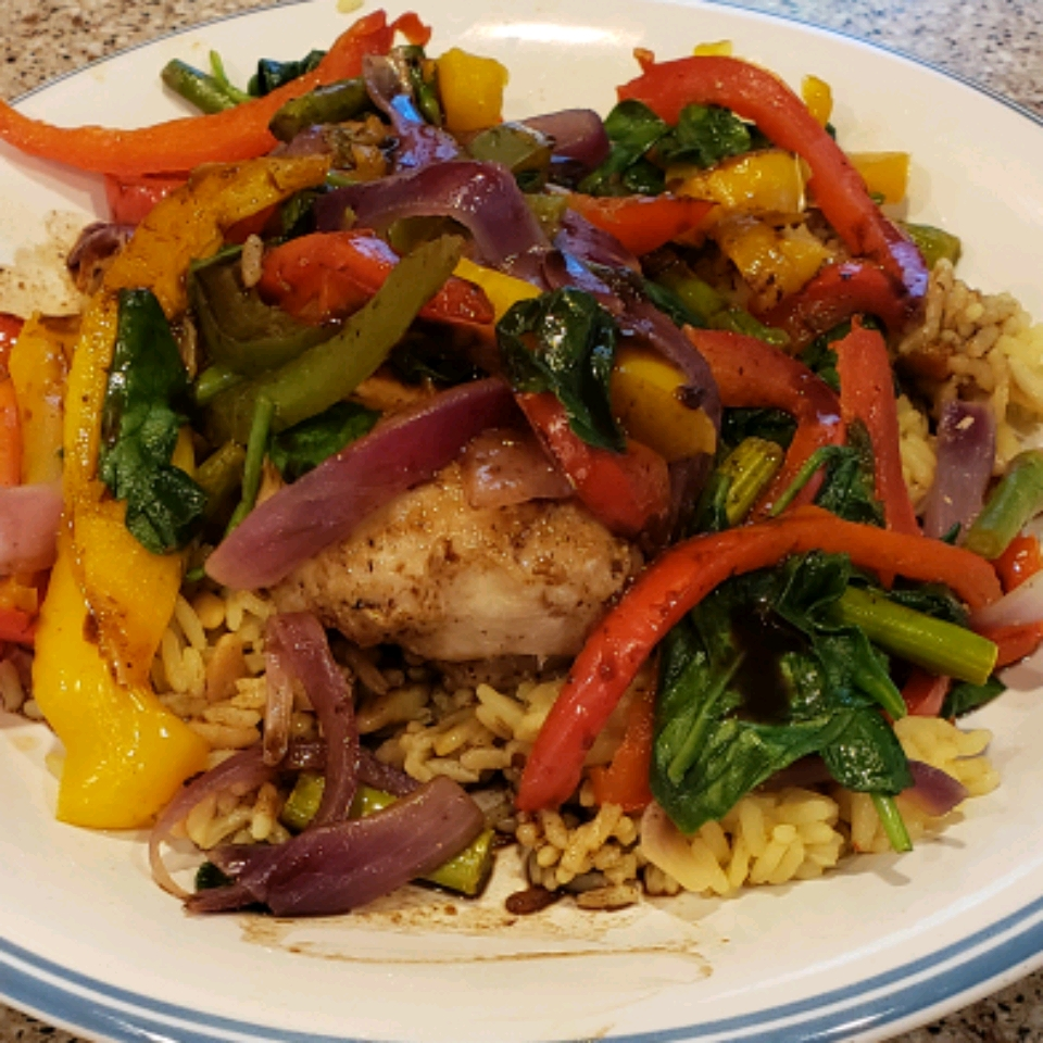 Aunt Jules' Balsalmic Chicken with Peppers Amber Blackman
