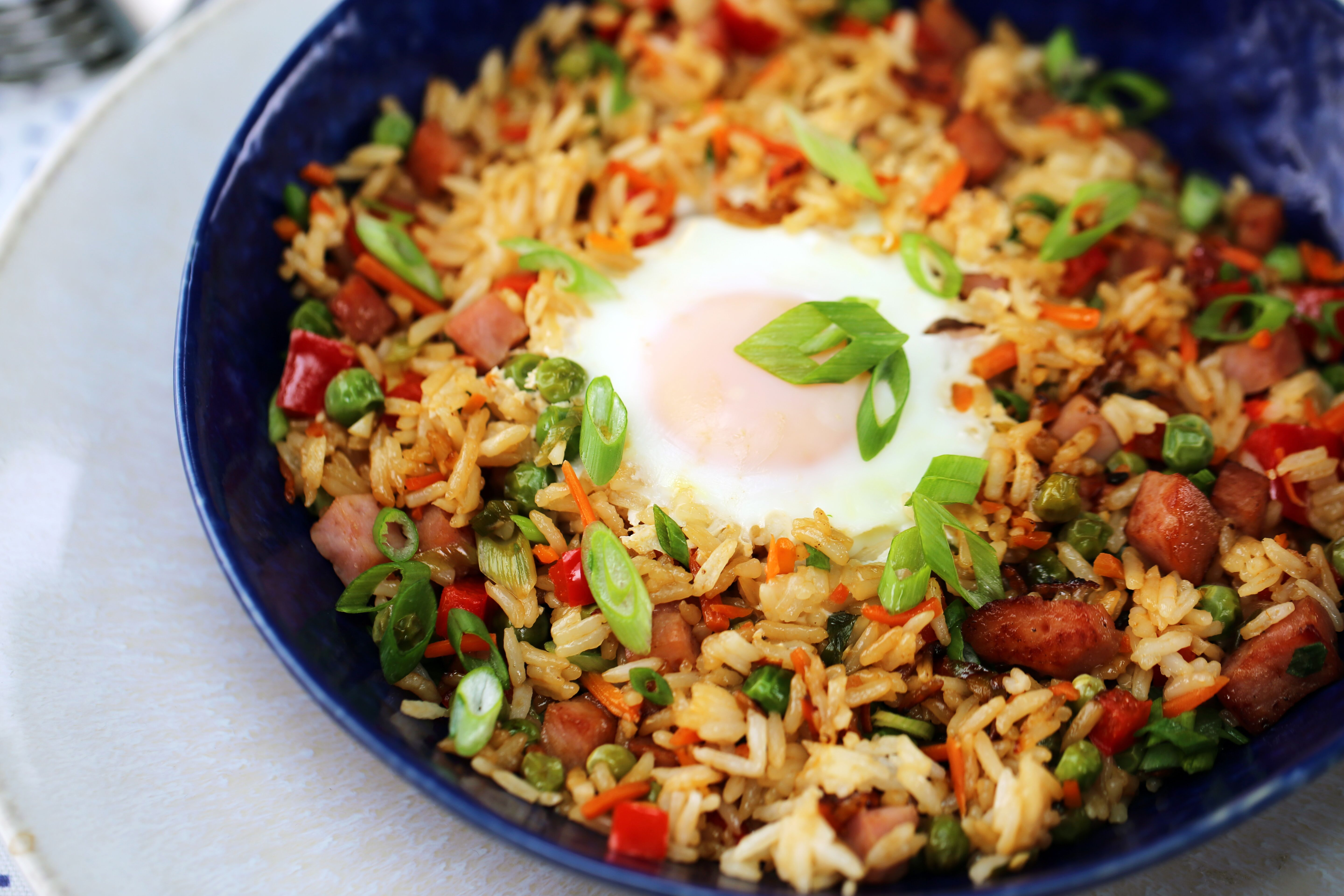 Ham Fried Rice with Eggs