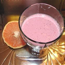 Fresh Grapefruit Juice Smoothie