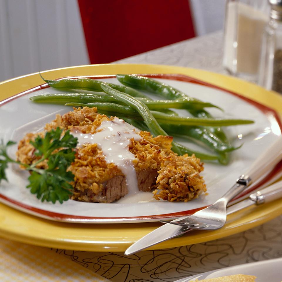 Chicken- Fried  Steak with Spiced Gravy Diabetic Living Magazine