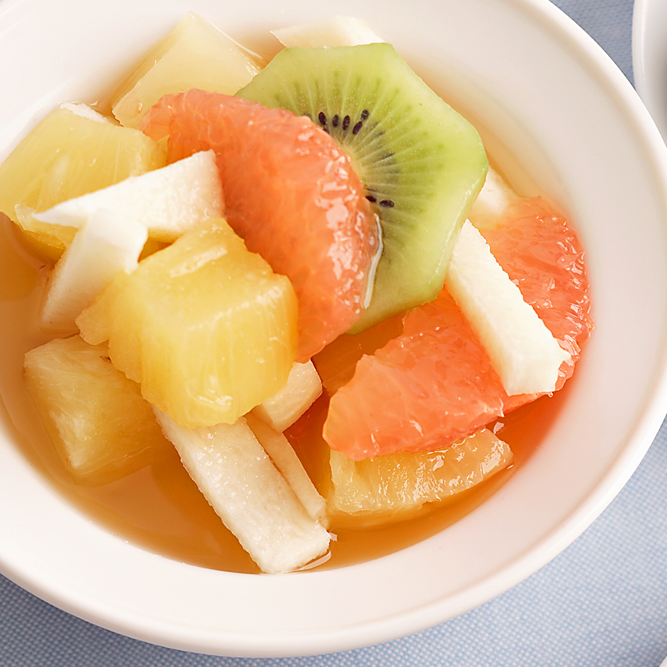 Try this recipe of pineapple, grapefruit, kiwi, and jicama chilled in spiced cider the next time you need a fruity and refreshing side dish.