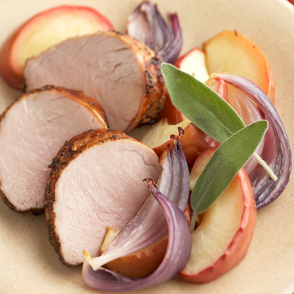 Roasted Pork with Apples Diabetic Living Magazine