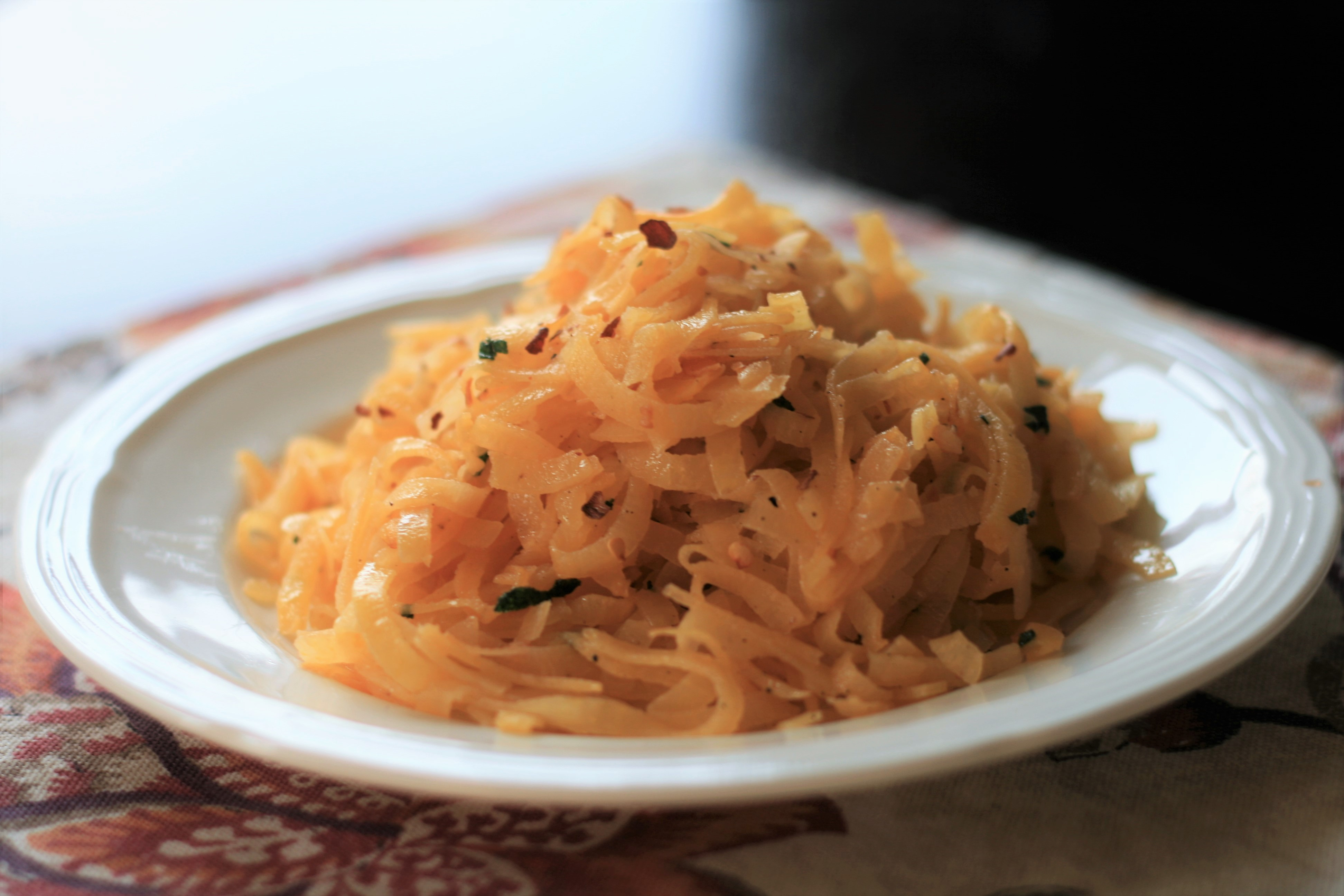 Rutabaga Noodles with Sage Butter