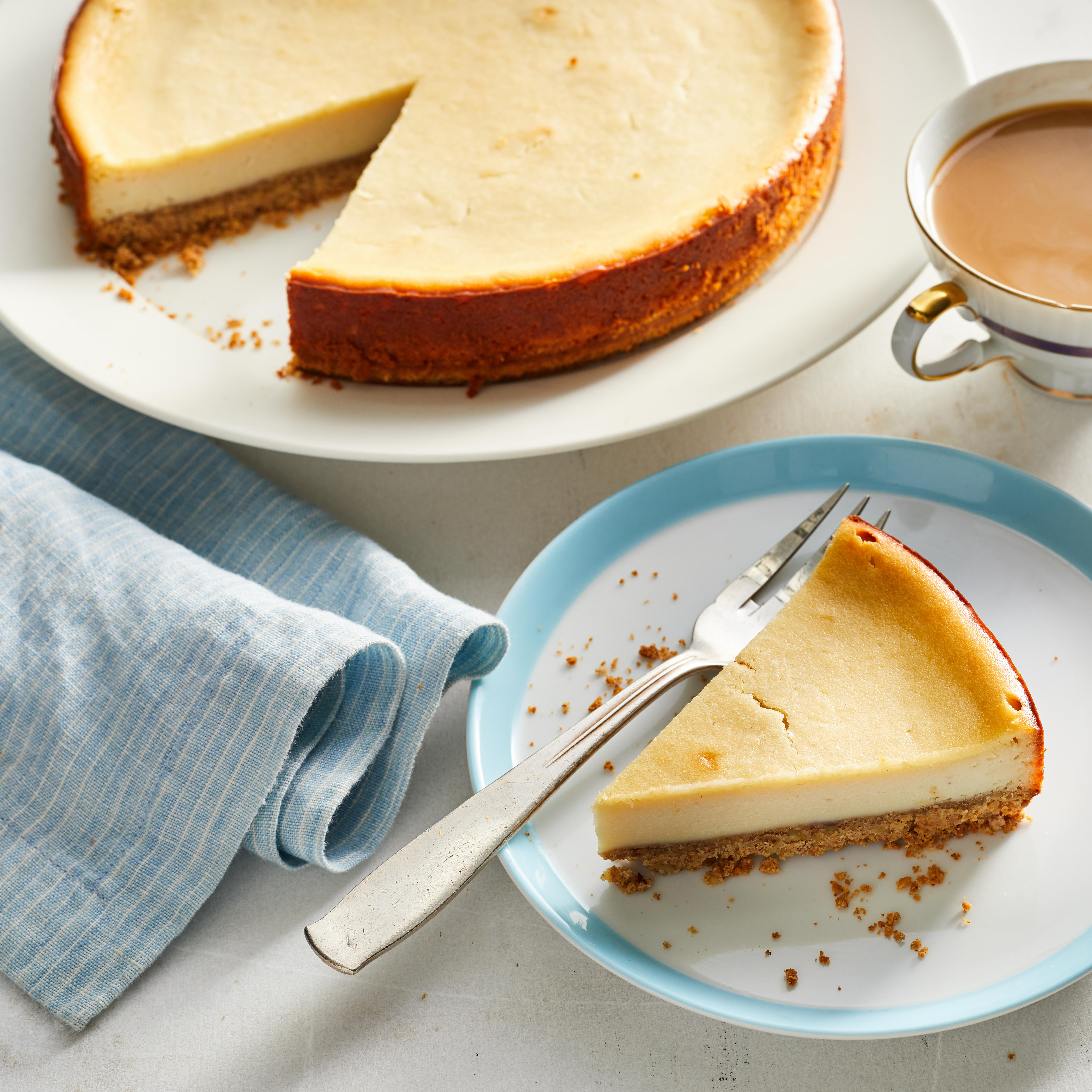 This luscious vegan cheesecake nixes the dairy in favor of a filling made with coconut cream, tofu and cashews or macadamia nuts instead of the traditional eggs and cream. Coconut oil and nuts make for a rich-tasting and crunchy crust, so nobody will miss the butter.