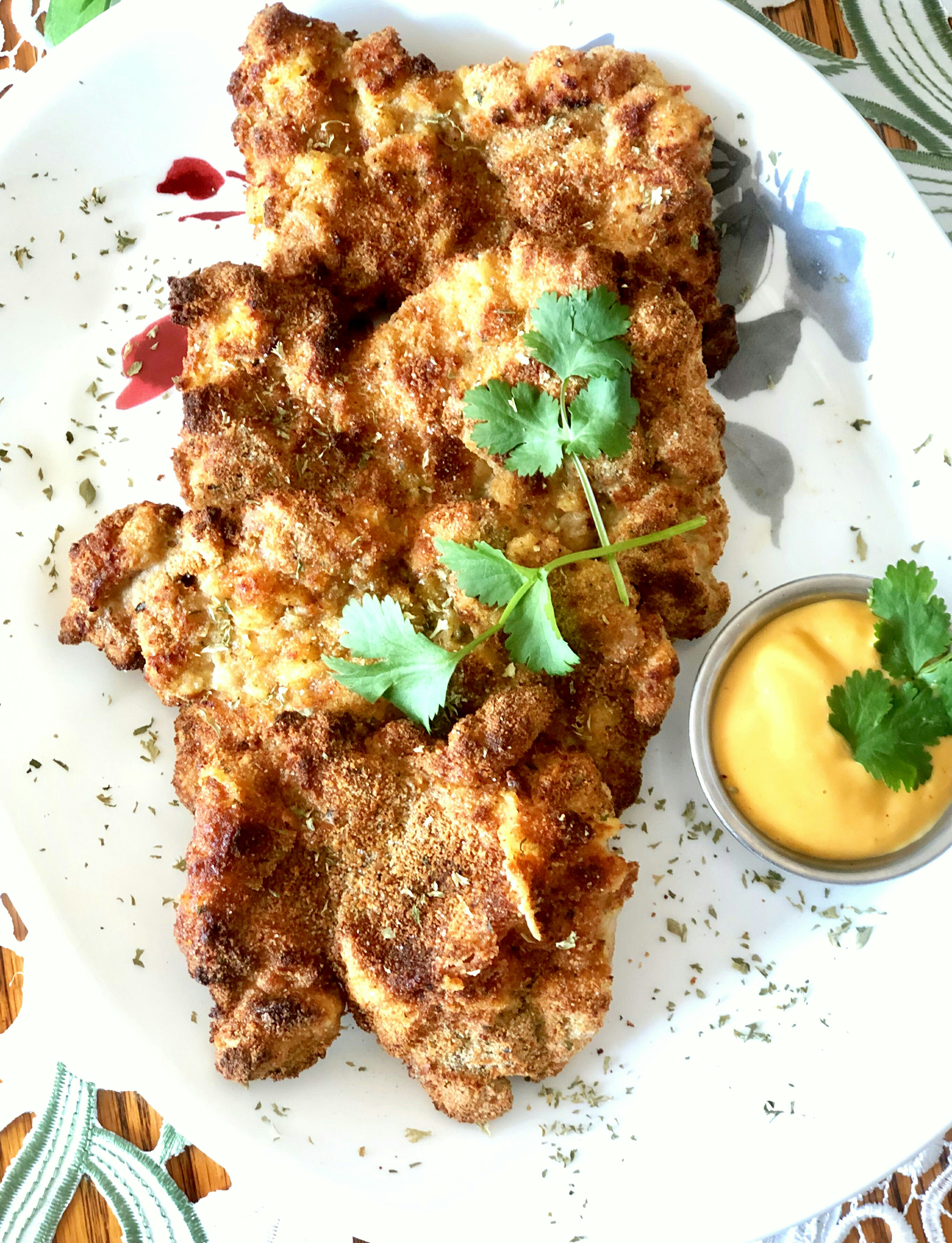 """Not only is it delicious, it is also cooked in the air fryer, making it lower in calories, oil free, and grease free,"" says Yoly. ""I find chicken thighs to be more flavorful than chicken breasts, and this schnitzel is a perfect example.""                           You might also like:"