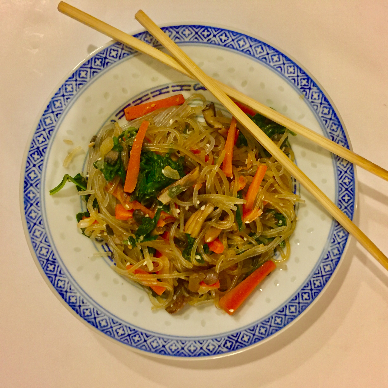 Korean Glass Noodles (Jap Chae) SunnyDaysNora