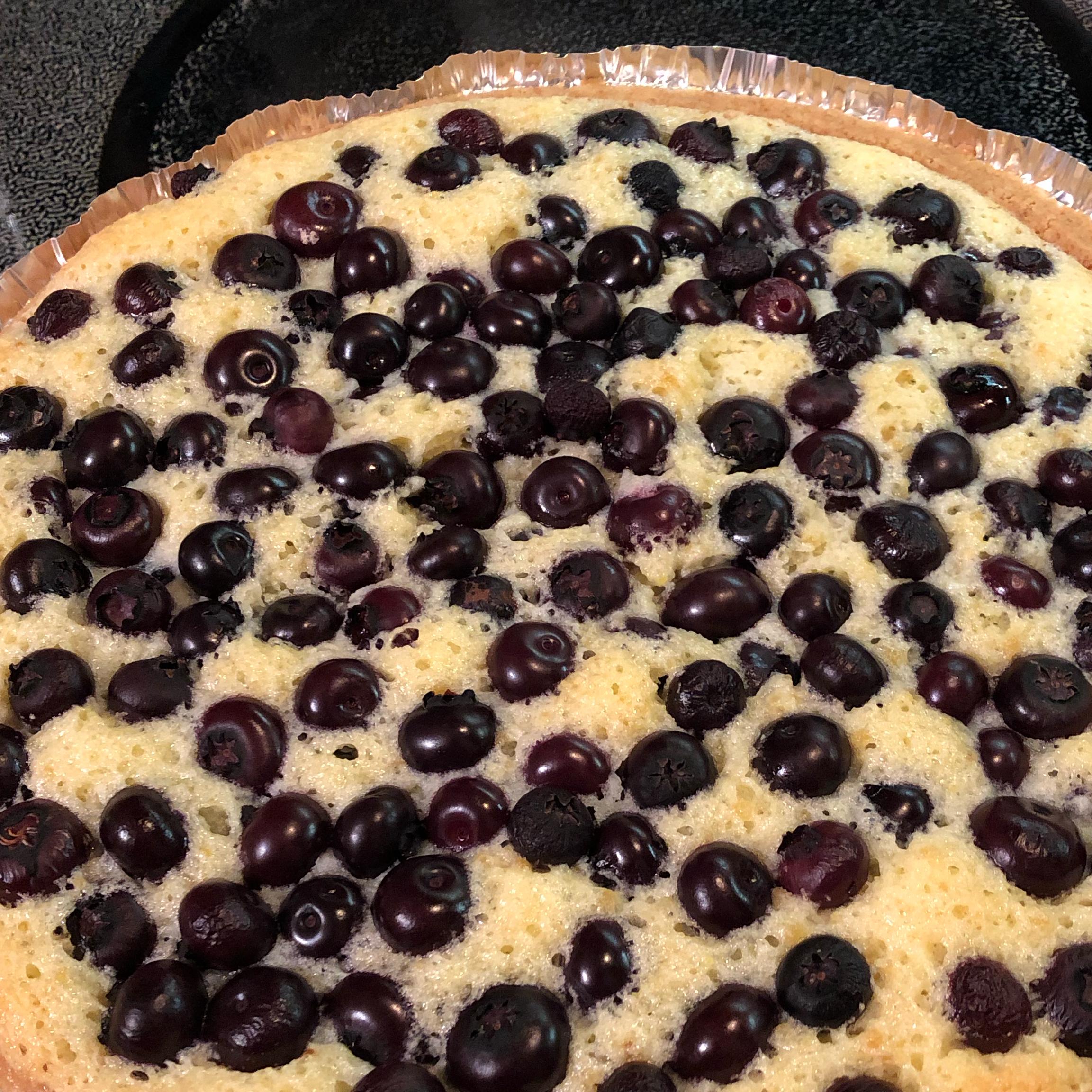 Lemon Blueberry Custard Pie Mazarino