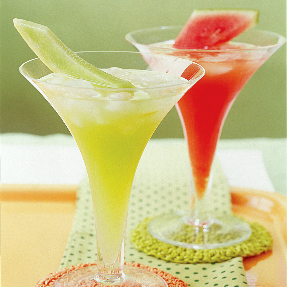 Consider making multiple batches of this tangy party drink recipe--some with watermelon and some with honeydew. Your guests will love the different colors and flavors.Source: Diabetic Living Magazine