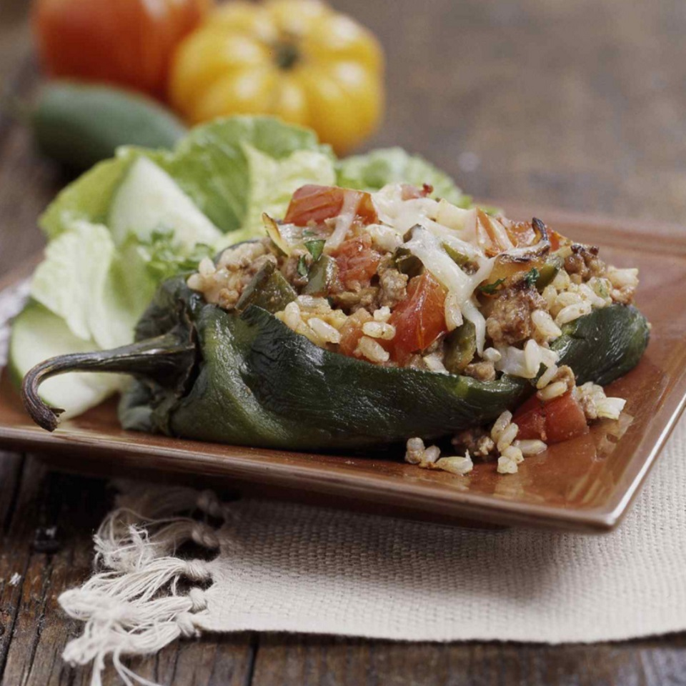 Chipotle Turkey-Stuffed Peppers Diabetic Living Magazine
