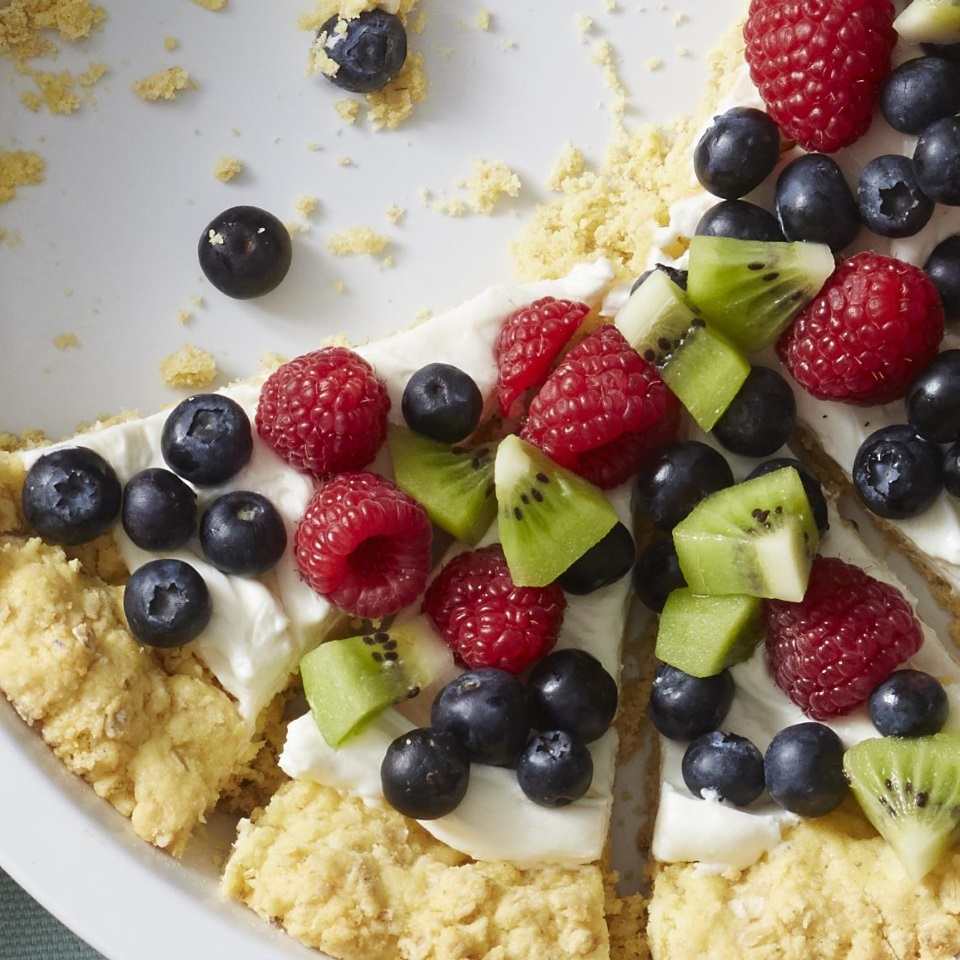 These fruit pies topped with blueberries, raspberries, and kiwi are so easy to make. Just be sure to allow them enough time to set in the fridge--about an hour! Source: Diabetic Living Magazine