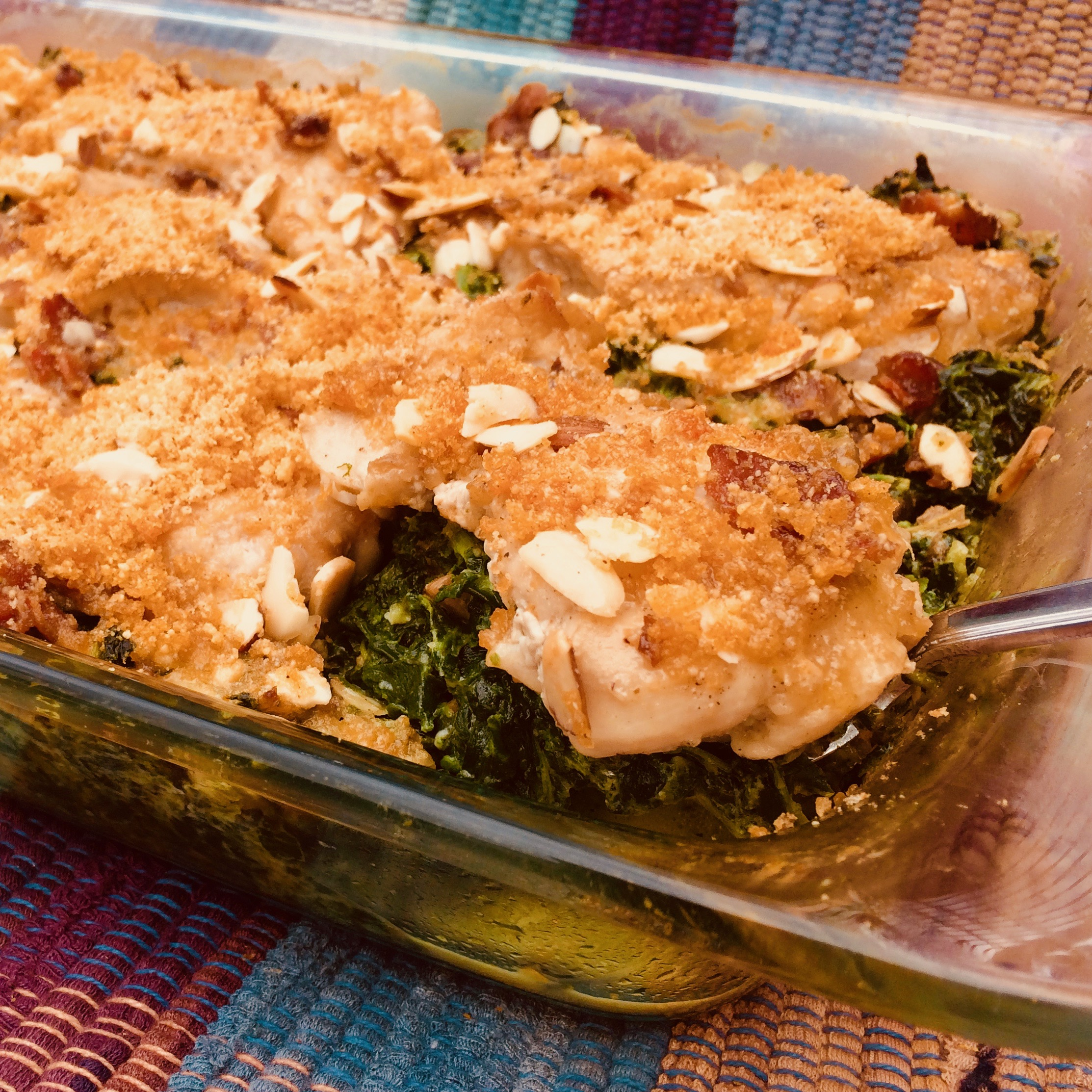 Oven-Baked Keto Chicken Thighs with Creamed Spinach and Mushrooms Bibi