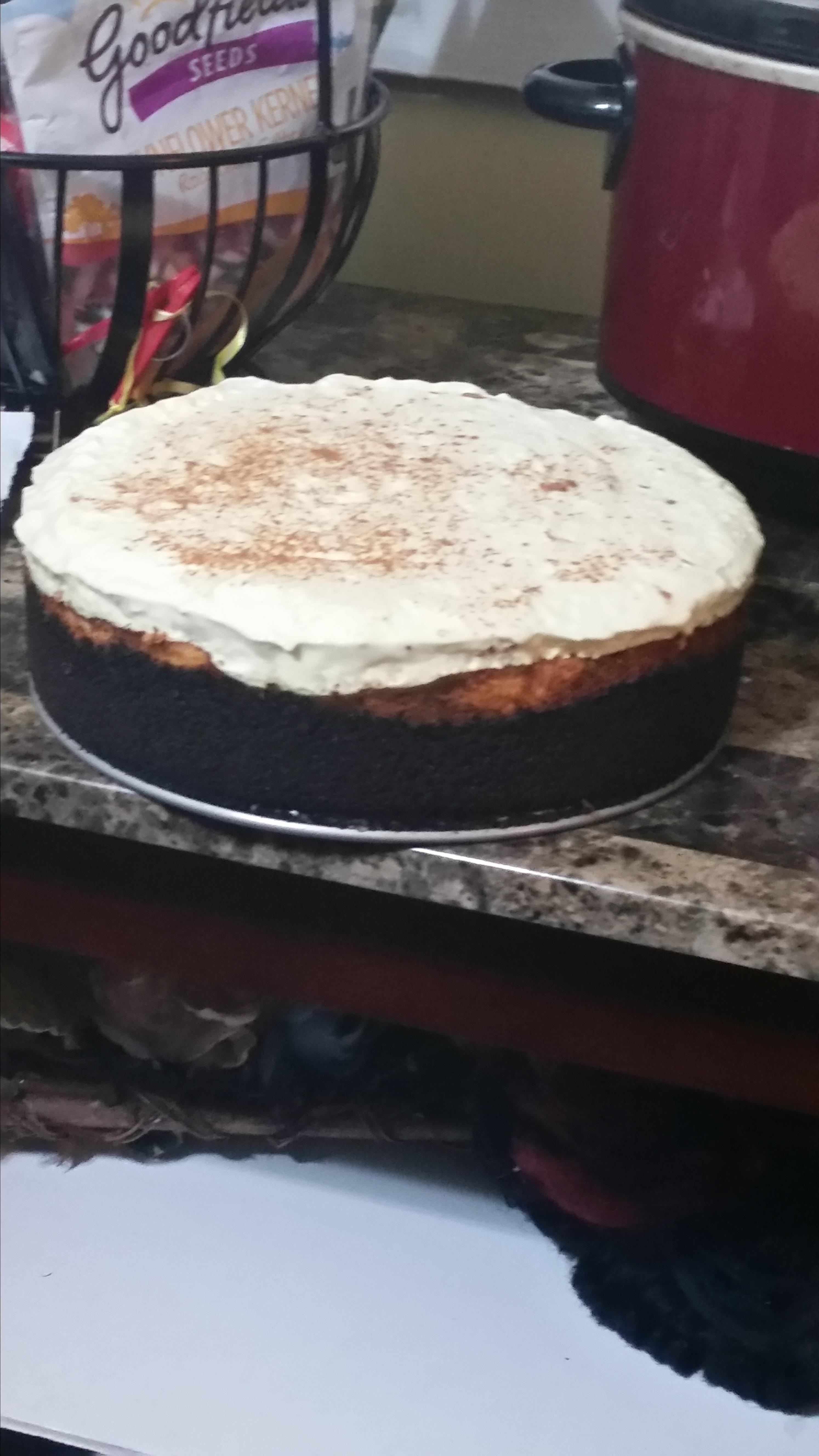 Banana Cheesecake with Banana Cream Pie Topping