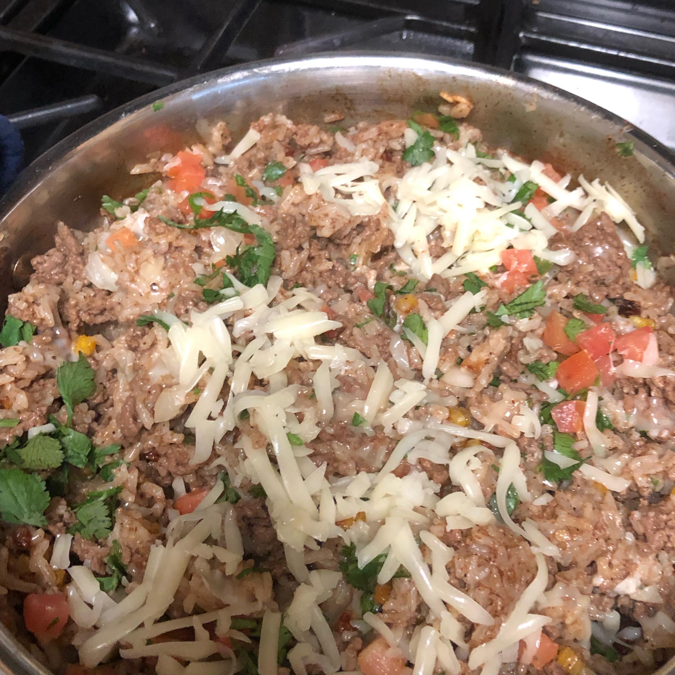 Cheesy Pork Taco Rice Julie's Kitchen