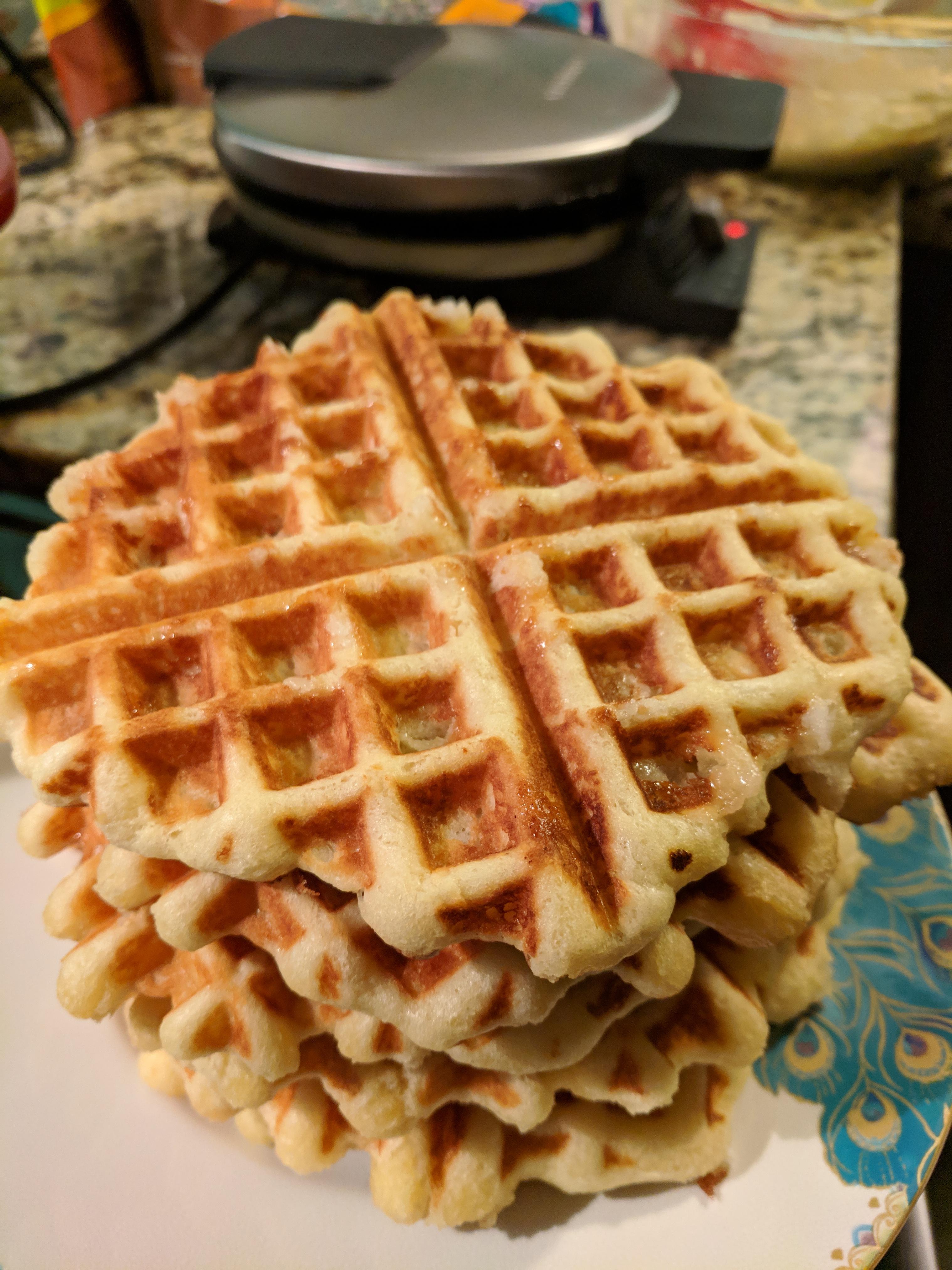 Liege Belgian Waffles with Pearl Sugar Nurt