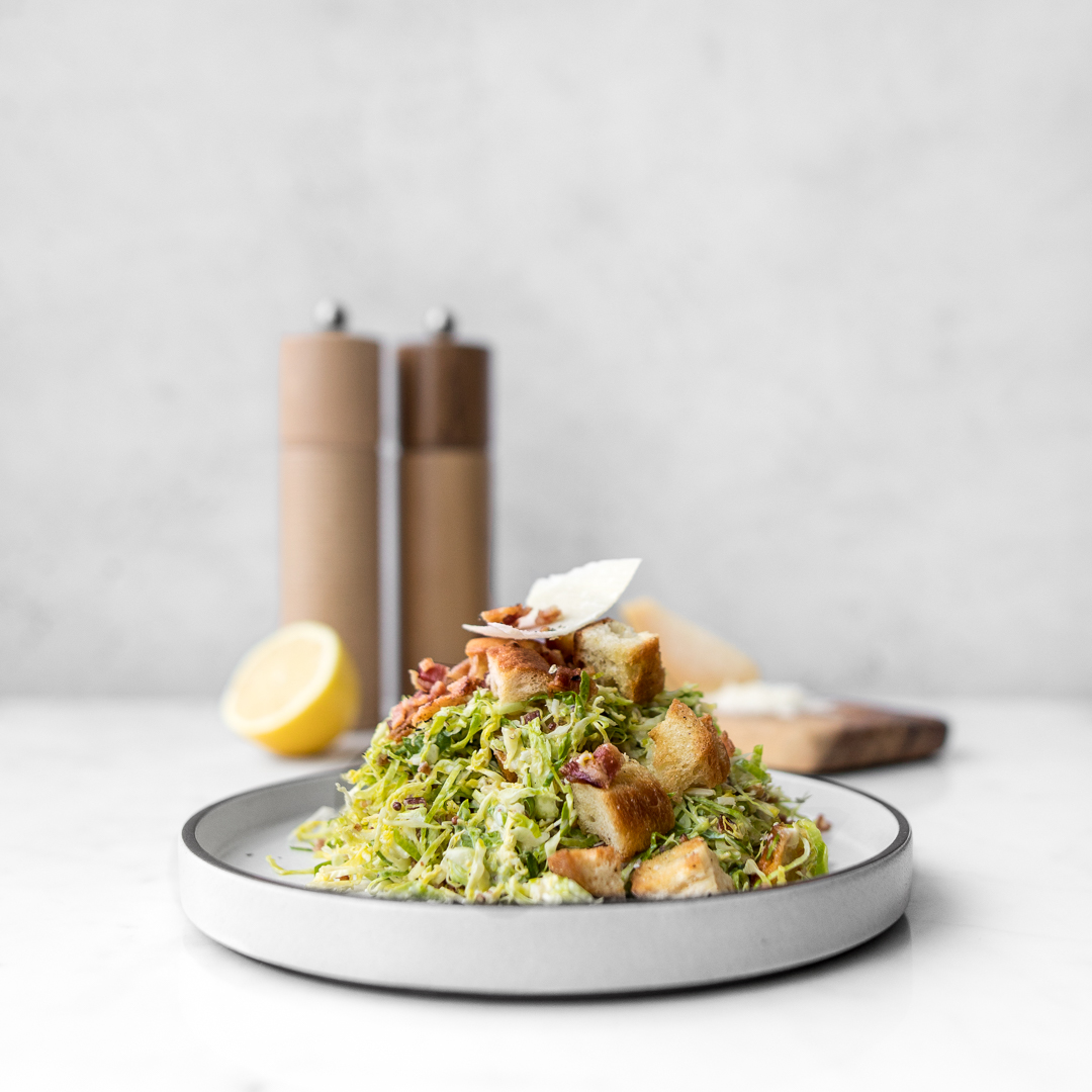Shaved Brussels Sprouts Caesar Salad