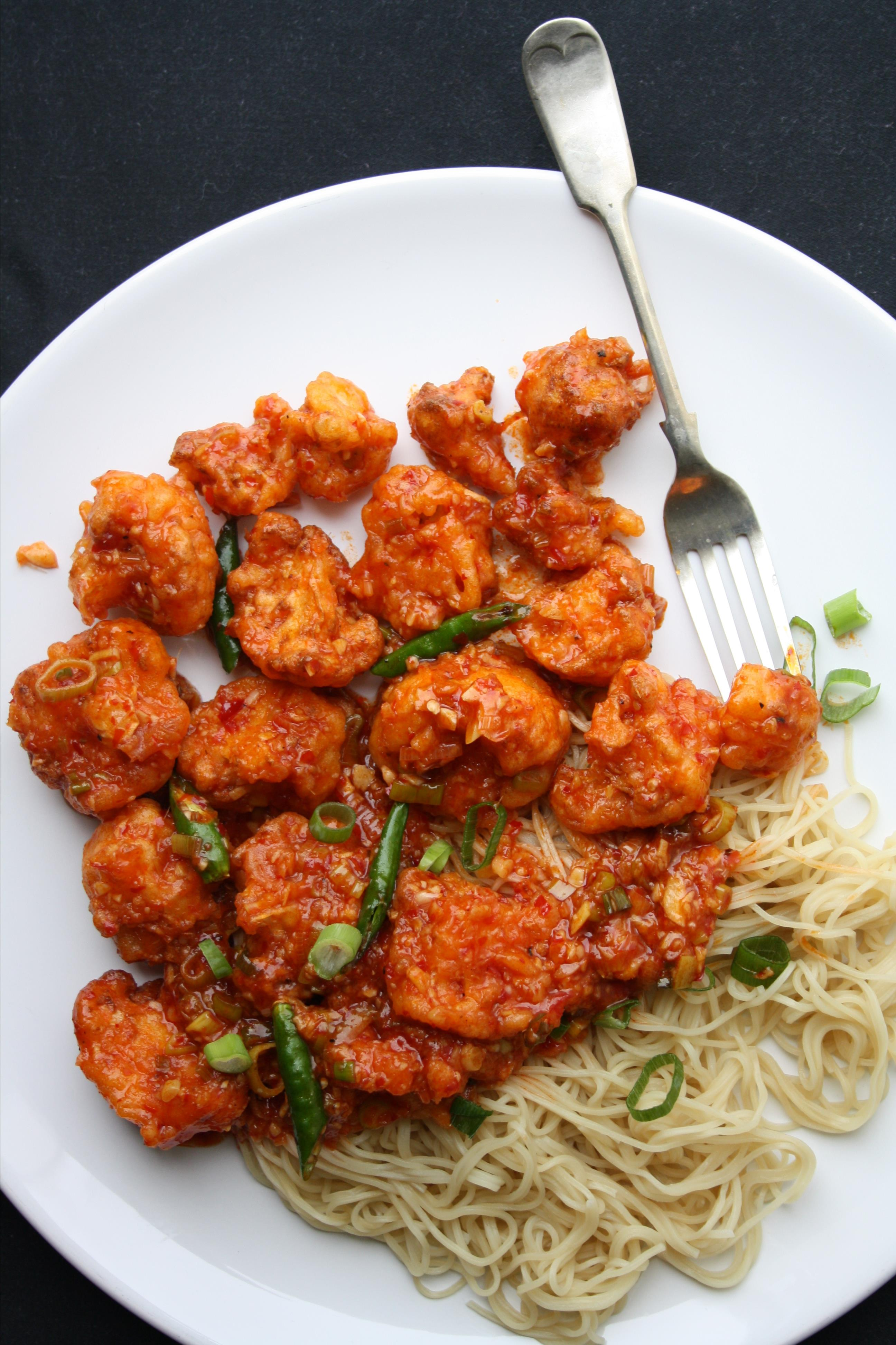 """""""This spicy Asian dish is one of my favorite gobi (cauliflower) recipes, available at many Indian restaurants,"""" says sunwind. """"Occasionally, I even love to bake the cauliflower to lower the calories. Keep in mind, baking will take away from the crispiness of fried cauliflower."""""""