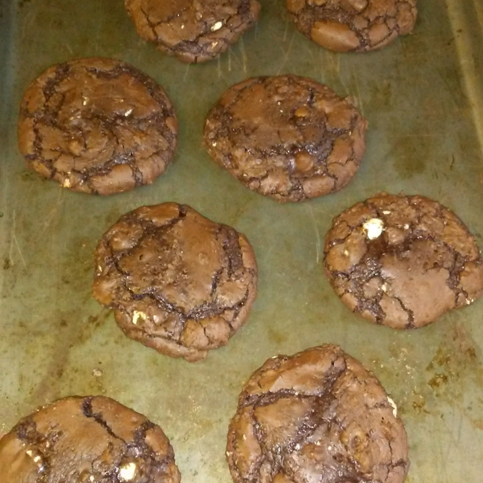 Double Fudge Brownie Cookies Art Hage