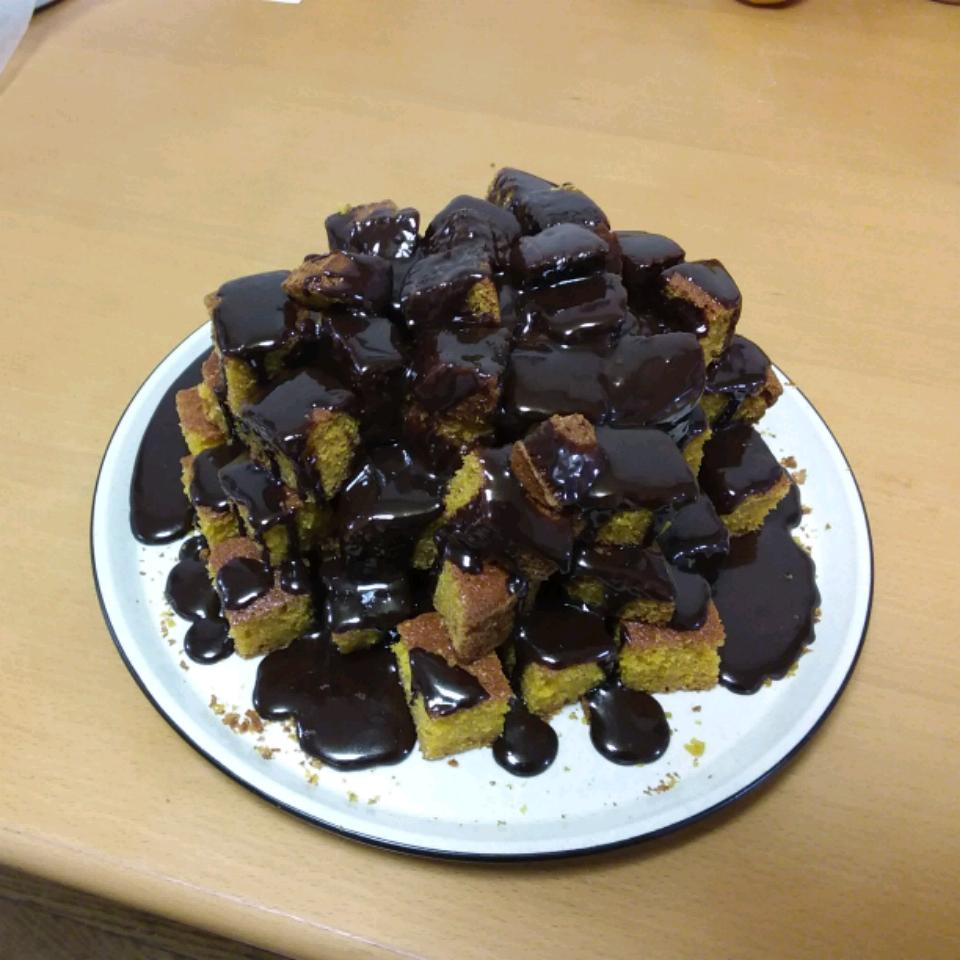 Brazilian-Style Carrot Cake with Chocolate Sauce Nicolas Shirotori