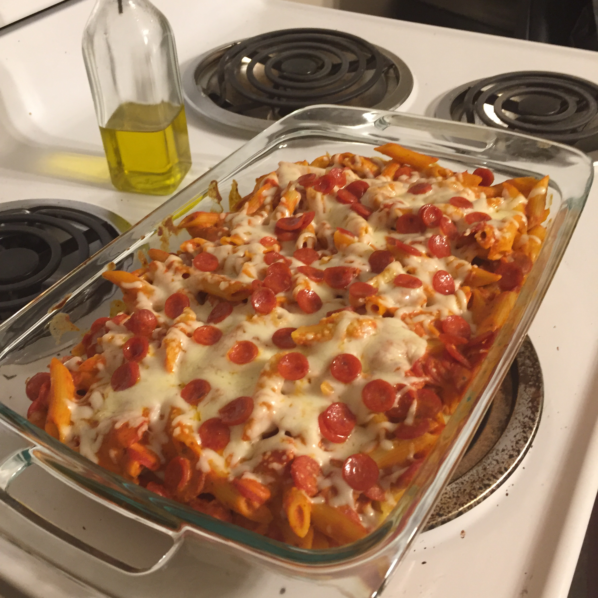 Pizza Pasta Bake with Sausage bagelly