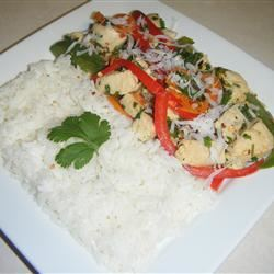 Ginger-Lime Chicken with Coconut Rice brightestcrayon