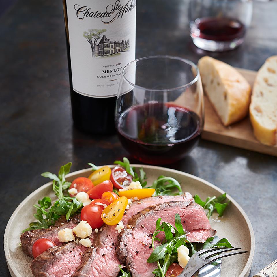Balsamic-Grilled Flank Steak and Arugula Salad Chateau Ste Michelle