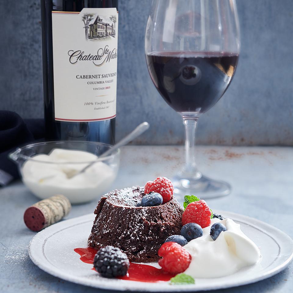 Flourless Chocolate Lava Cake Chateau Ste Michelle