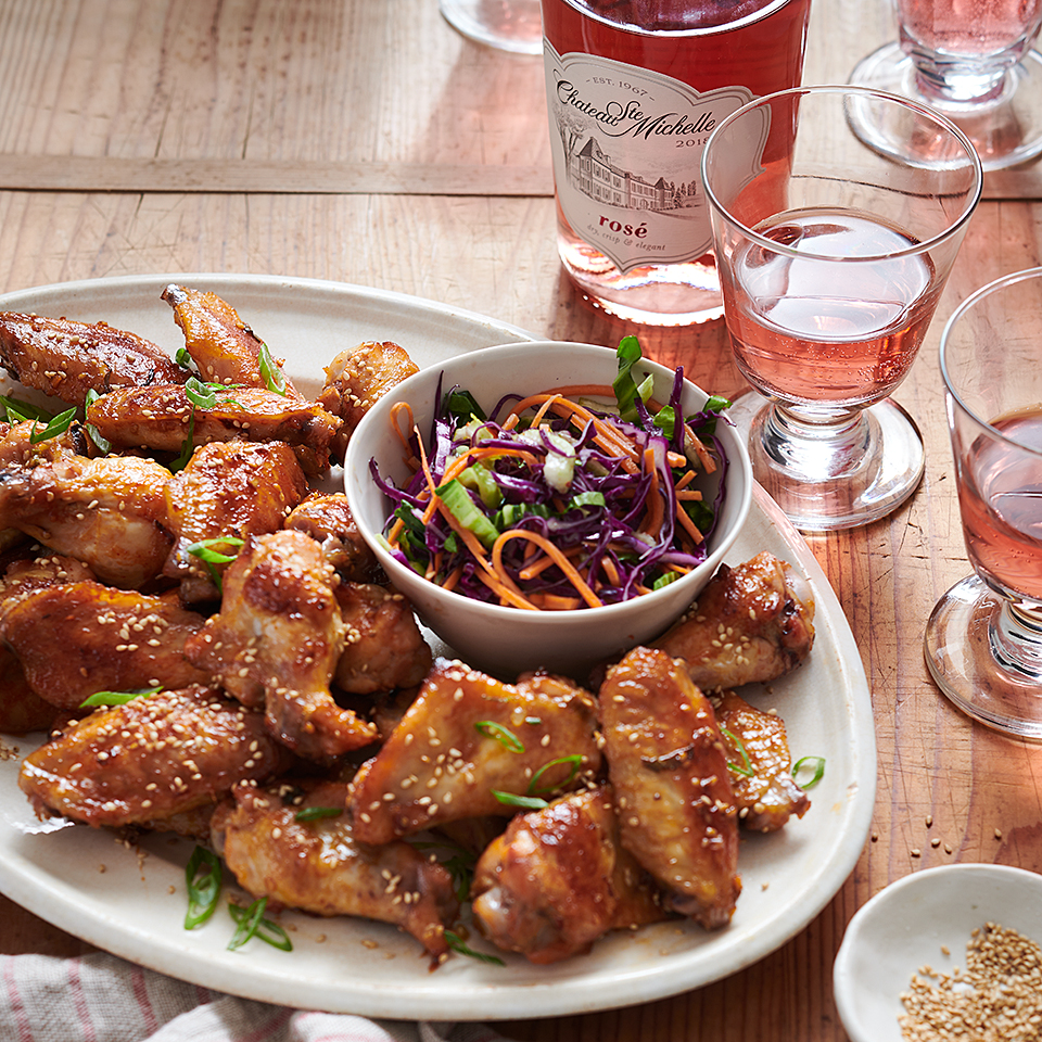 Sweet and Garlicky Korean Chicken Wings Chateau Ste Michelle