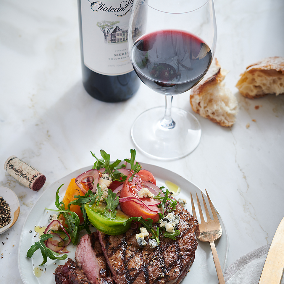Grilled Tuscan Rib Steak Chateau Ste Michelle