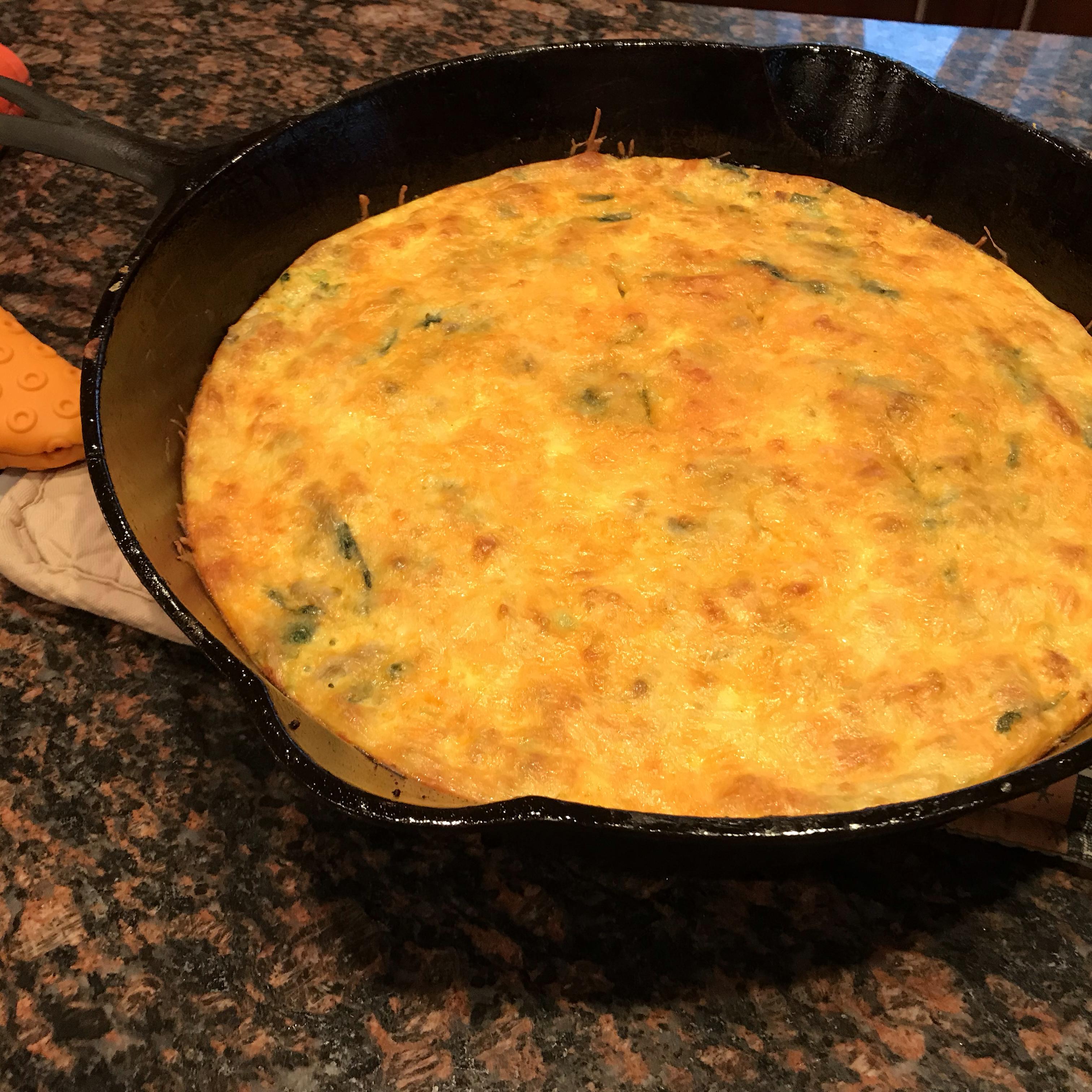 Cheesy Chorizo Frittata