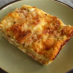French Ham Cheese and Egg Fondue Casserole CPADDON