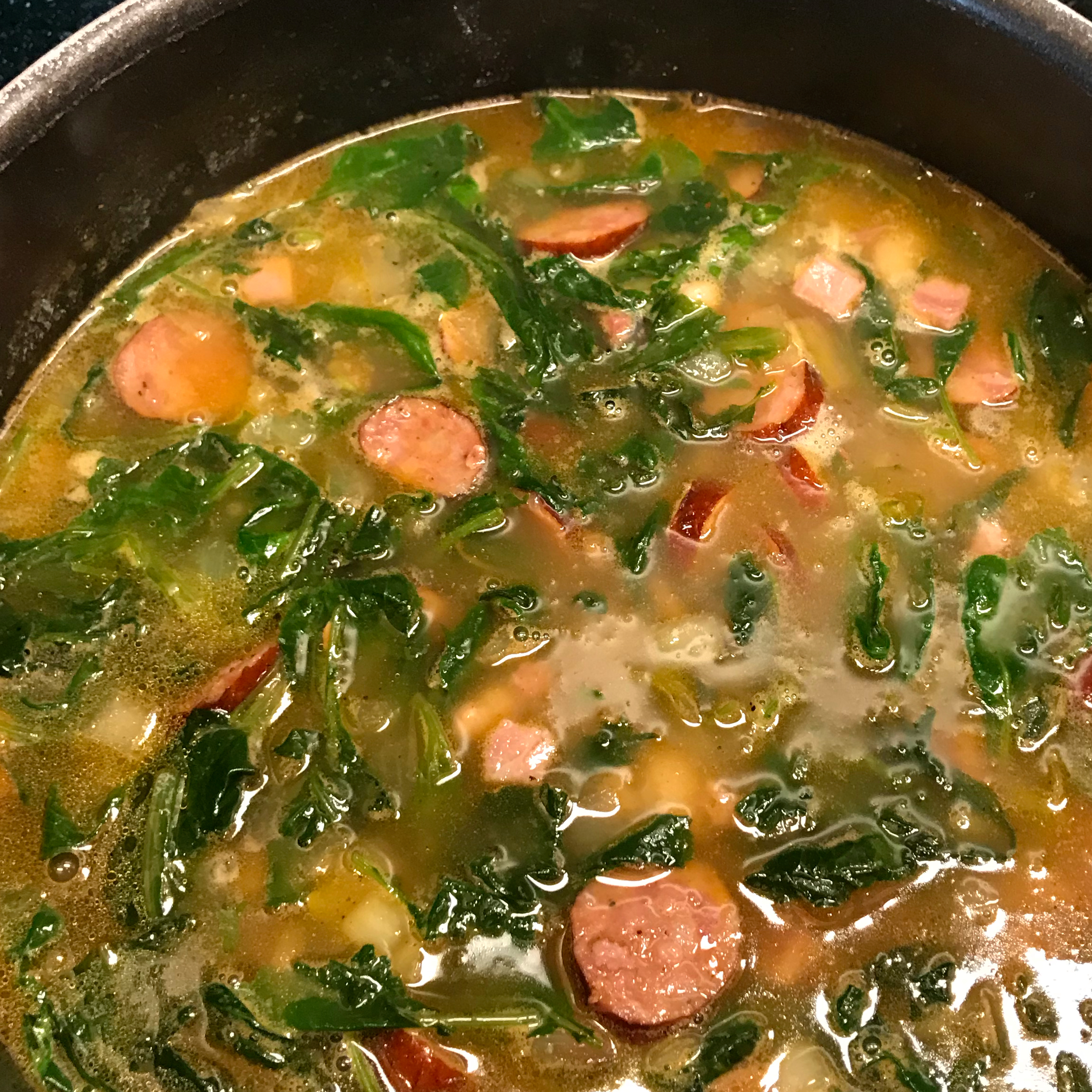 Big Ray's White Bean, Kale, and Kielbasa Soup david wood