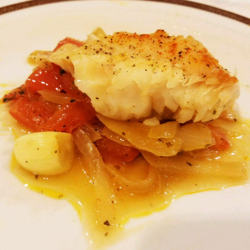 Prime Hake Steaks with Chunky Roasted Vegetables