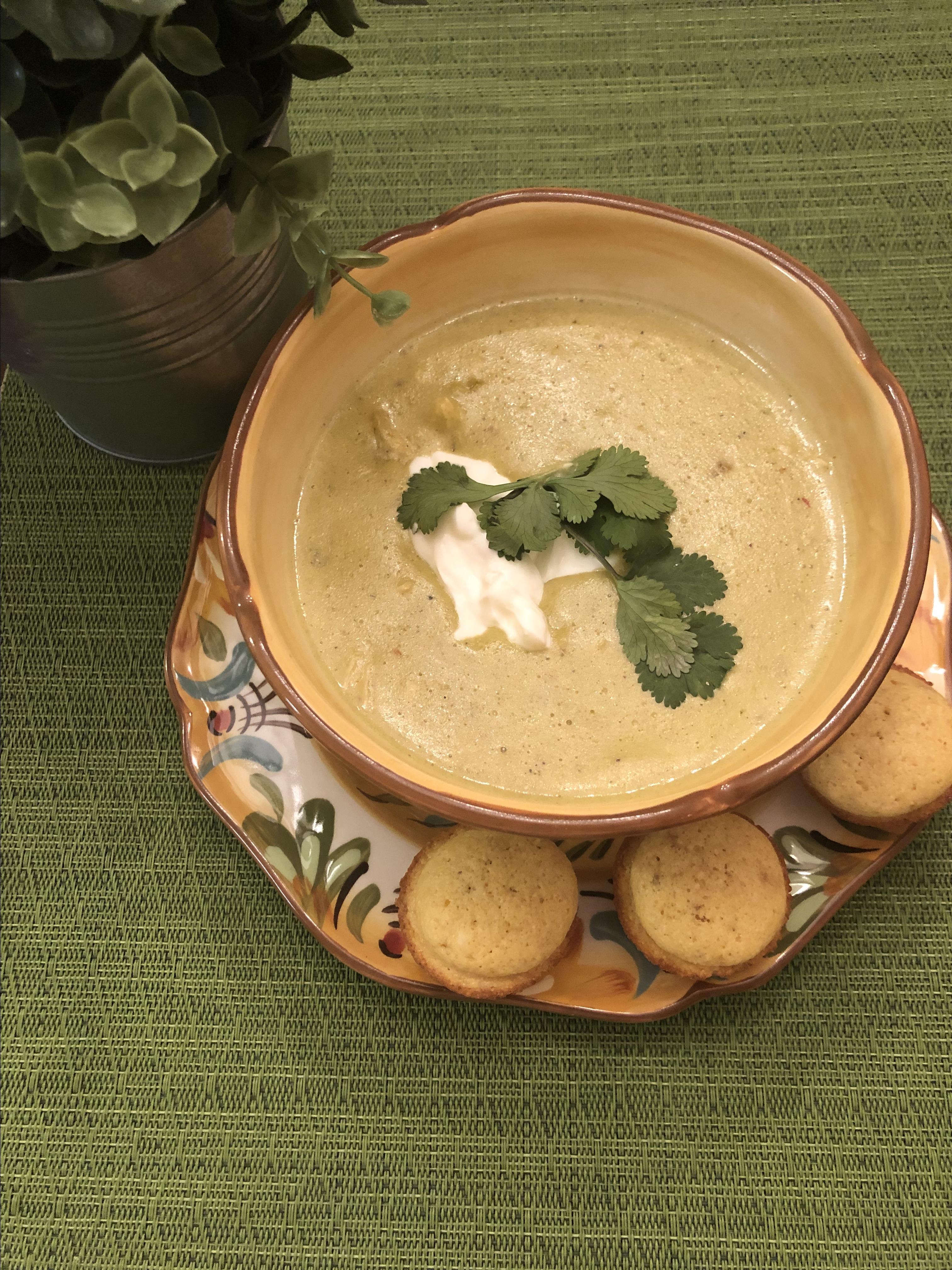 Poblano Chicken Cheese Soup