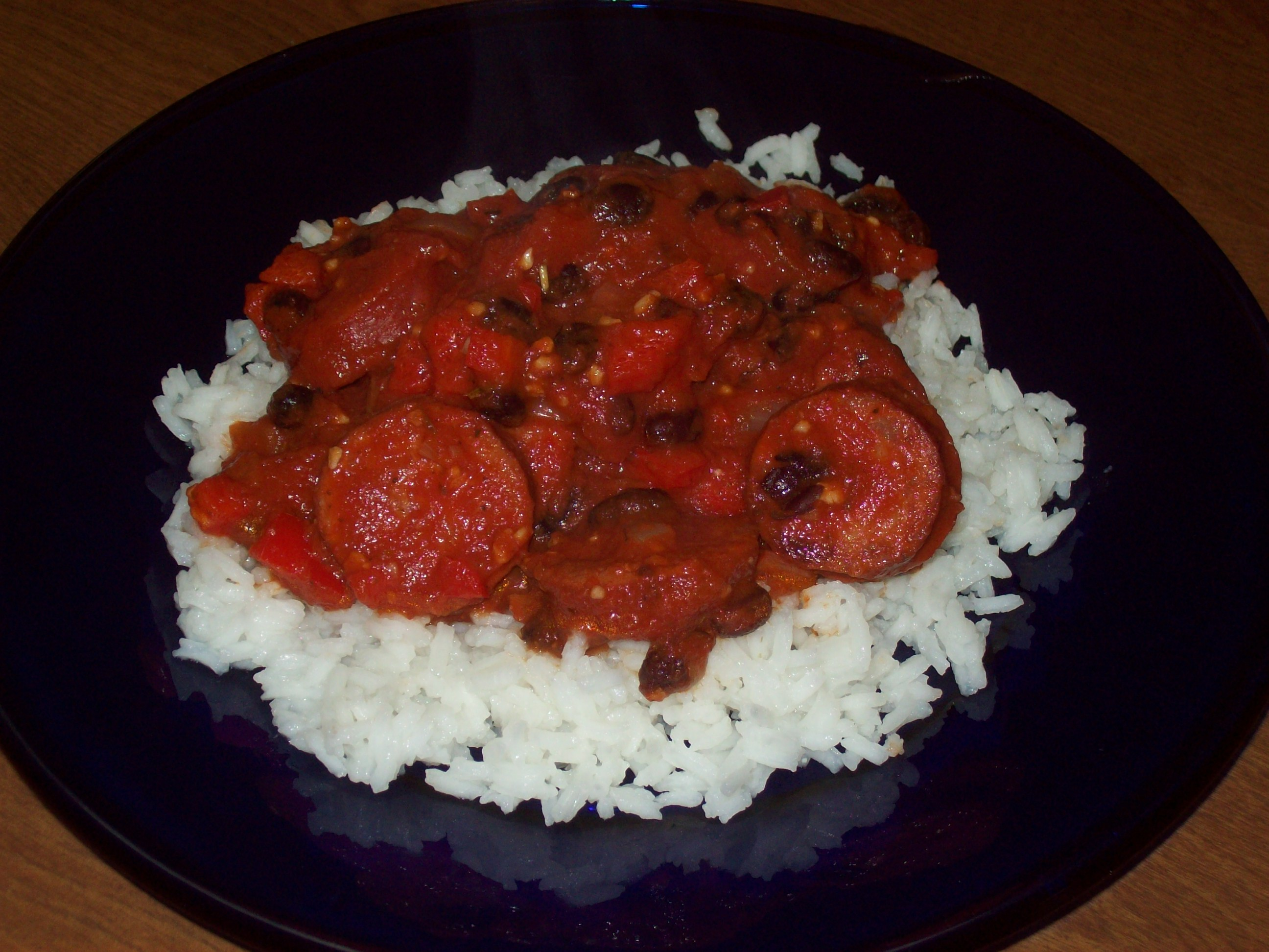 Portuguese Chourico, Beans, and Rice Chris Pinette