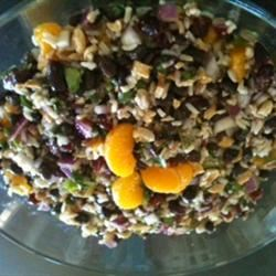 Black Bean and Wild Rice Salad bungalowgal