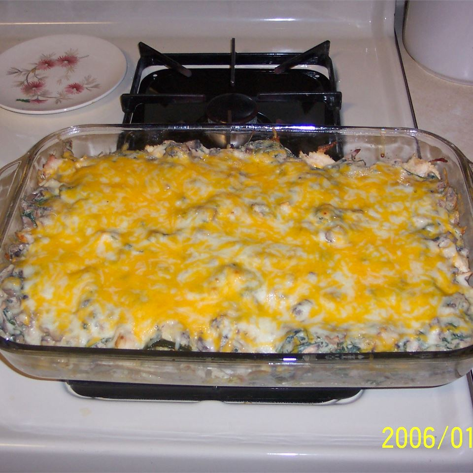 Poblano Chicken Enchilada Casserole DadWhoLoves2Cook