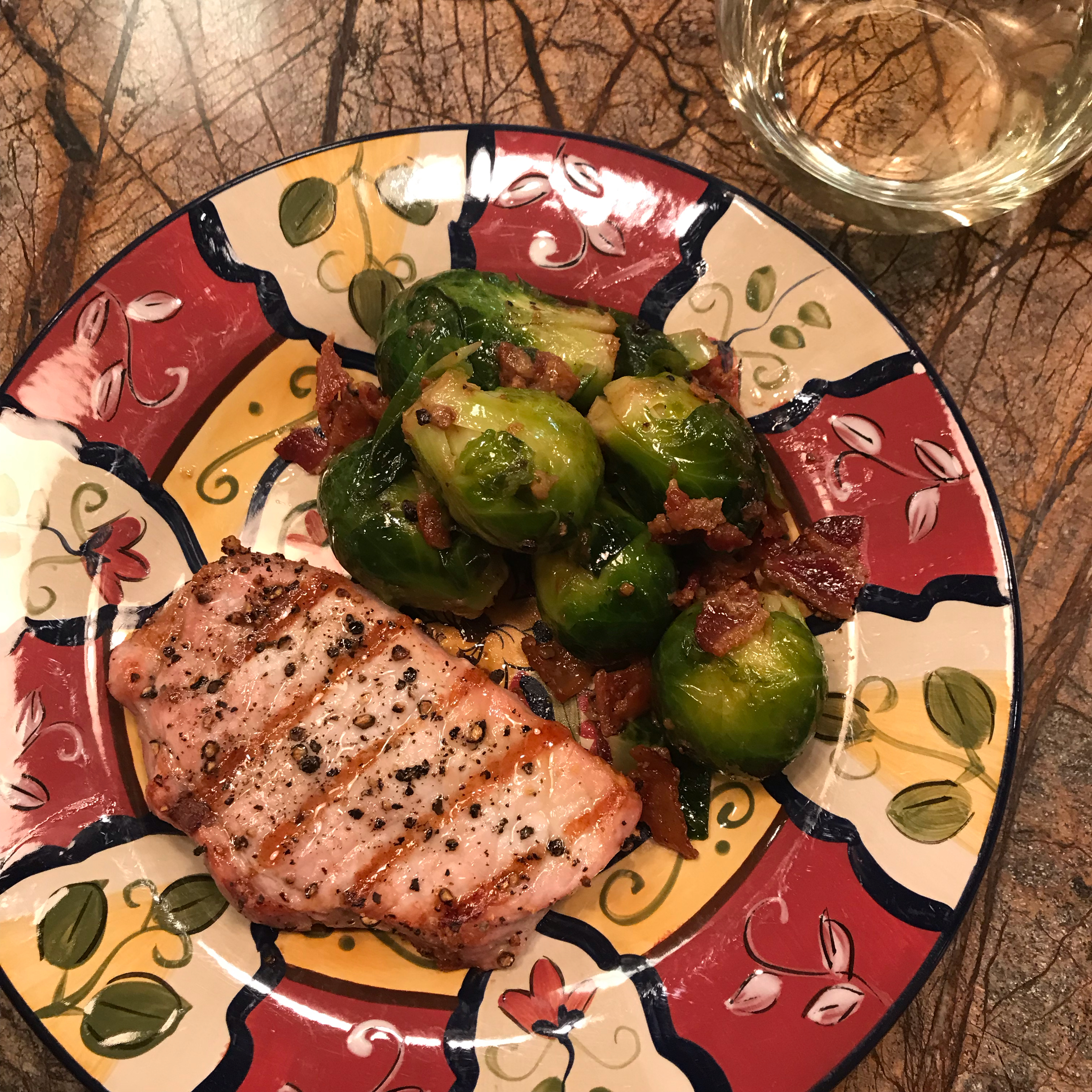 Braised Brussels Sprouts with Bacon Stefanie Brown Novak