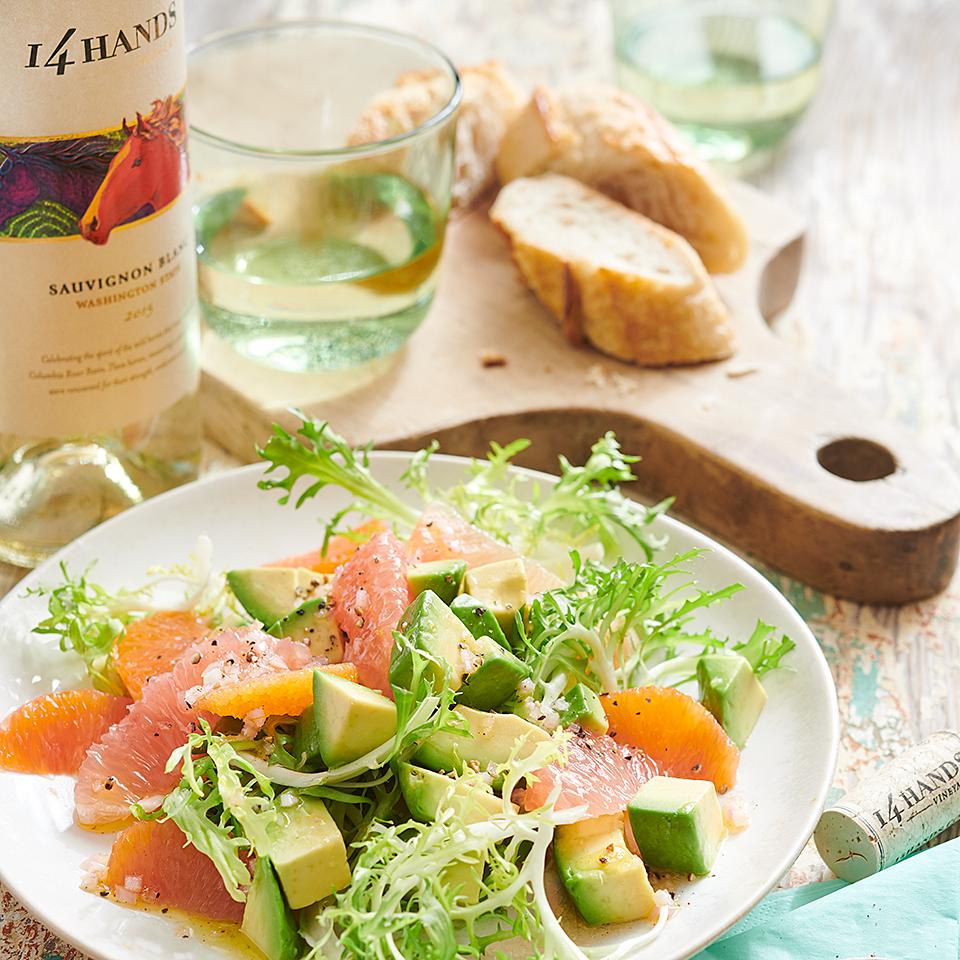 Avocado-Citrus Frisee Salad 14 Hands Winery