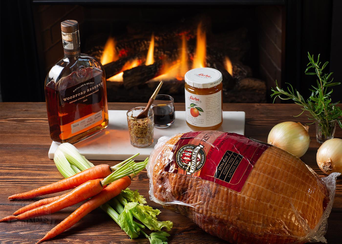Festive Ham with Marmalade Bourbon Glaze Grimm's Fine Foods