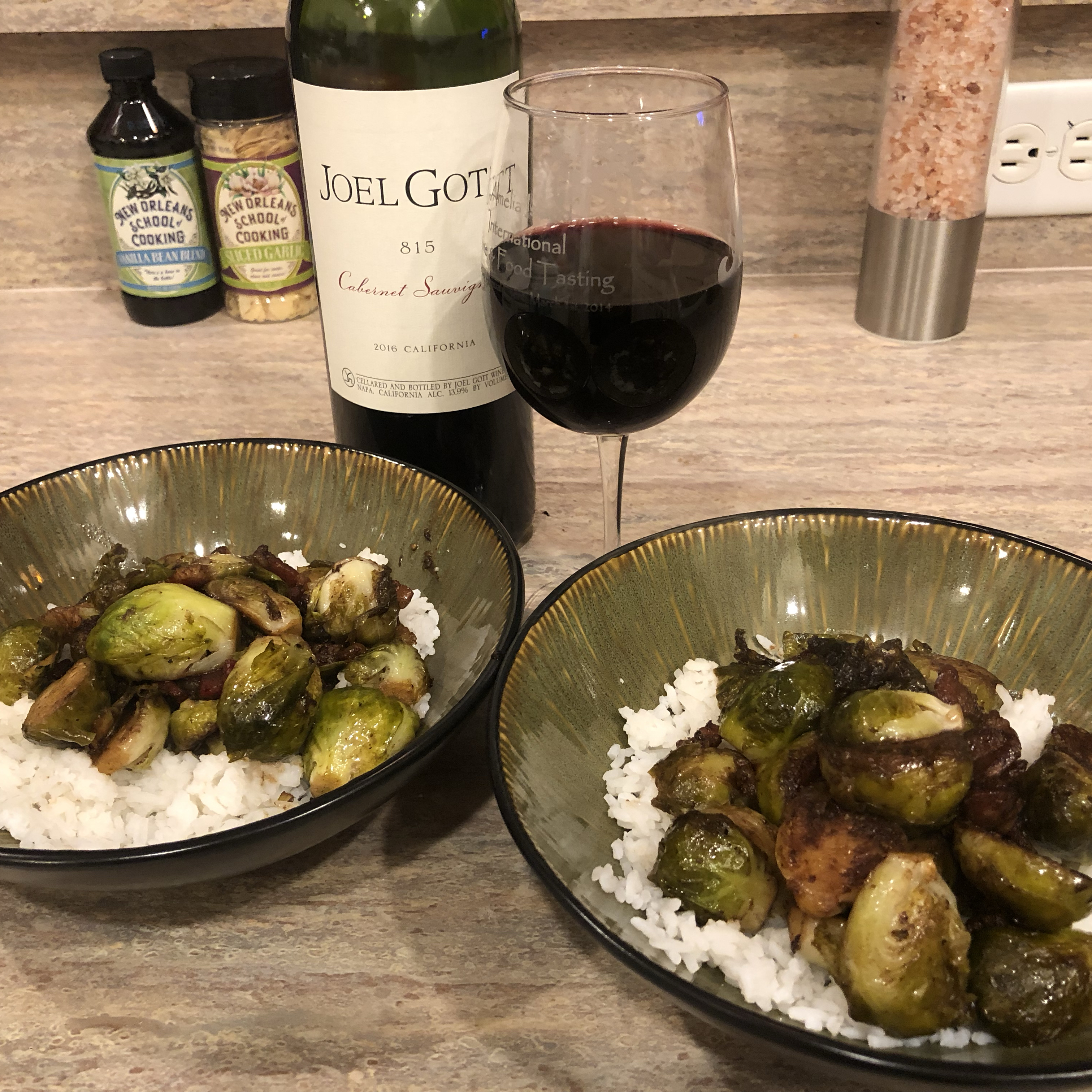 Brussels Sprouts with Bacon and Balsamic Mark Dennis