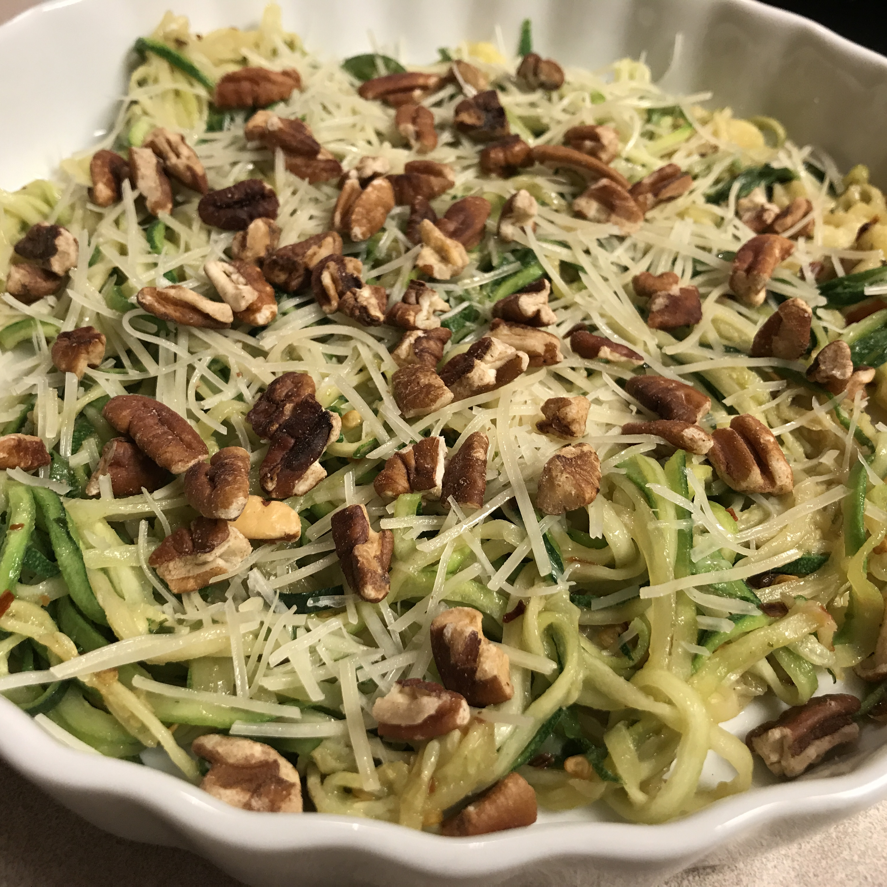 Spicy Butter Zoodles Sabrina Defreese