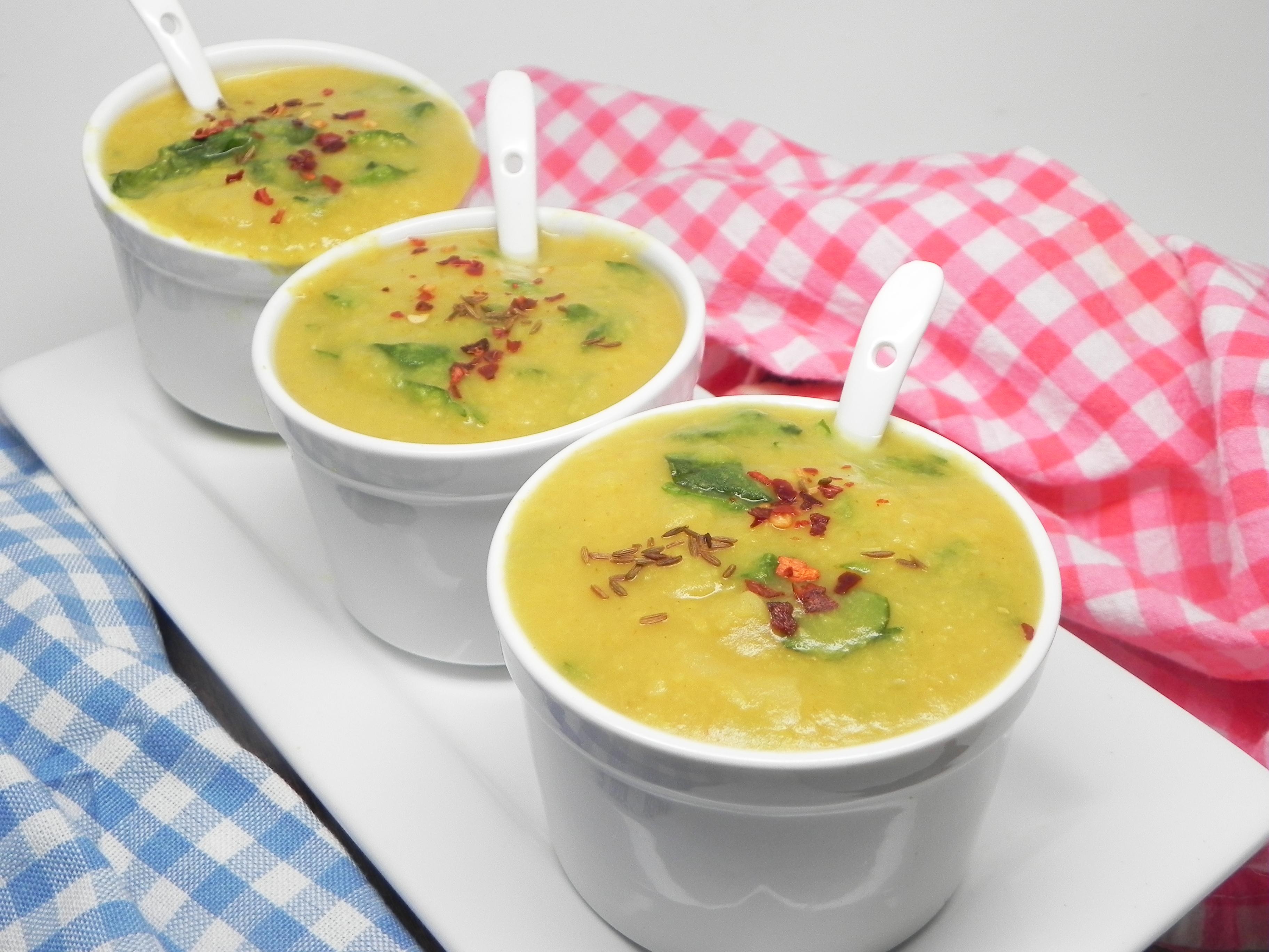 Vegetarian Palak Moong Dal
