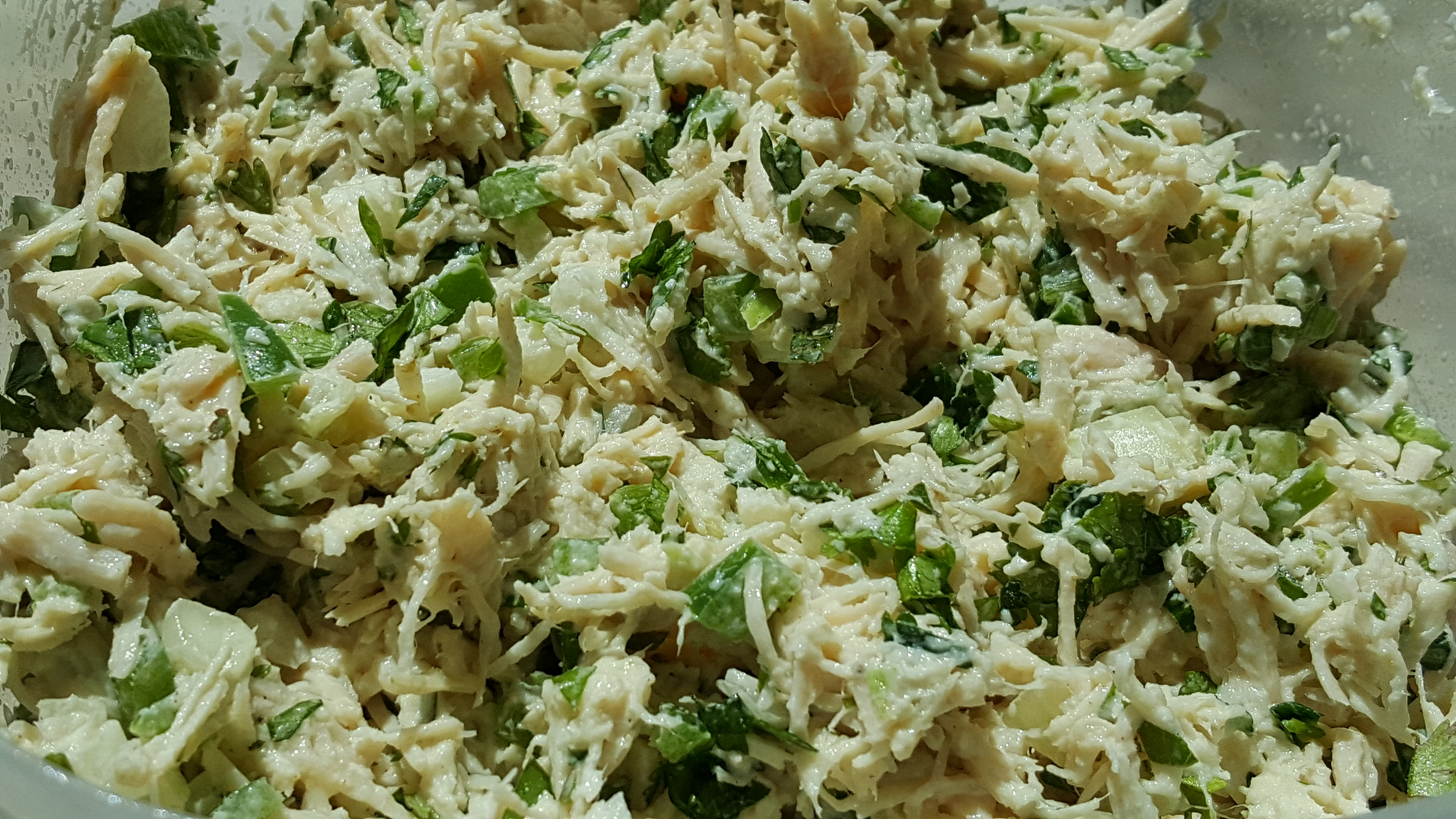 Lime-Poblano Chicken Salad