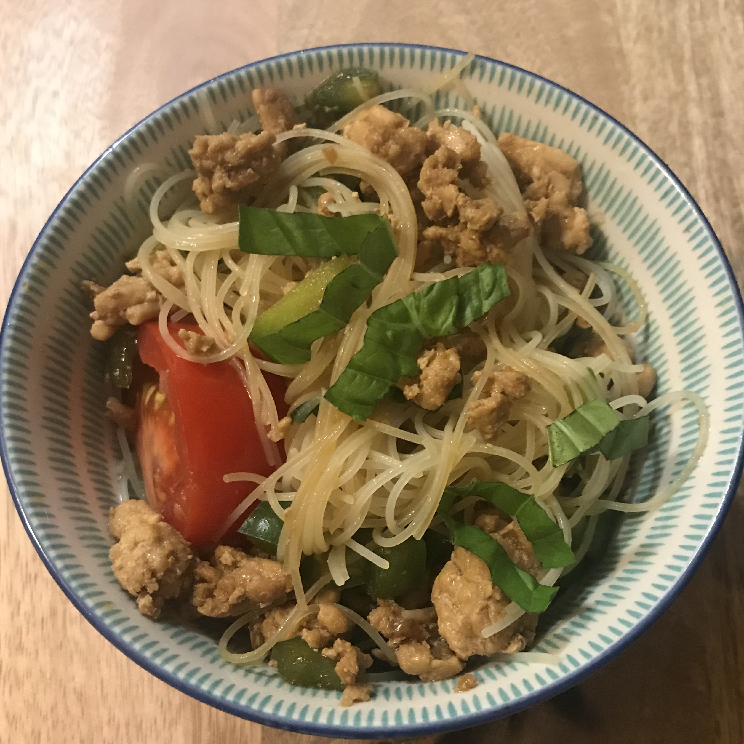 """""""This easy and spicy Thai chicken dish is similar to the restaurant version of drunken noodles,"""" says ruvyduv."""