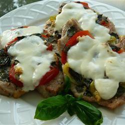 Amazing 'Pizza' Pork Chops Molly