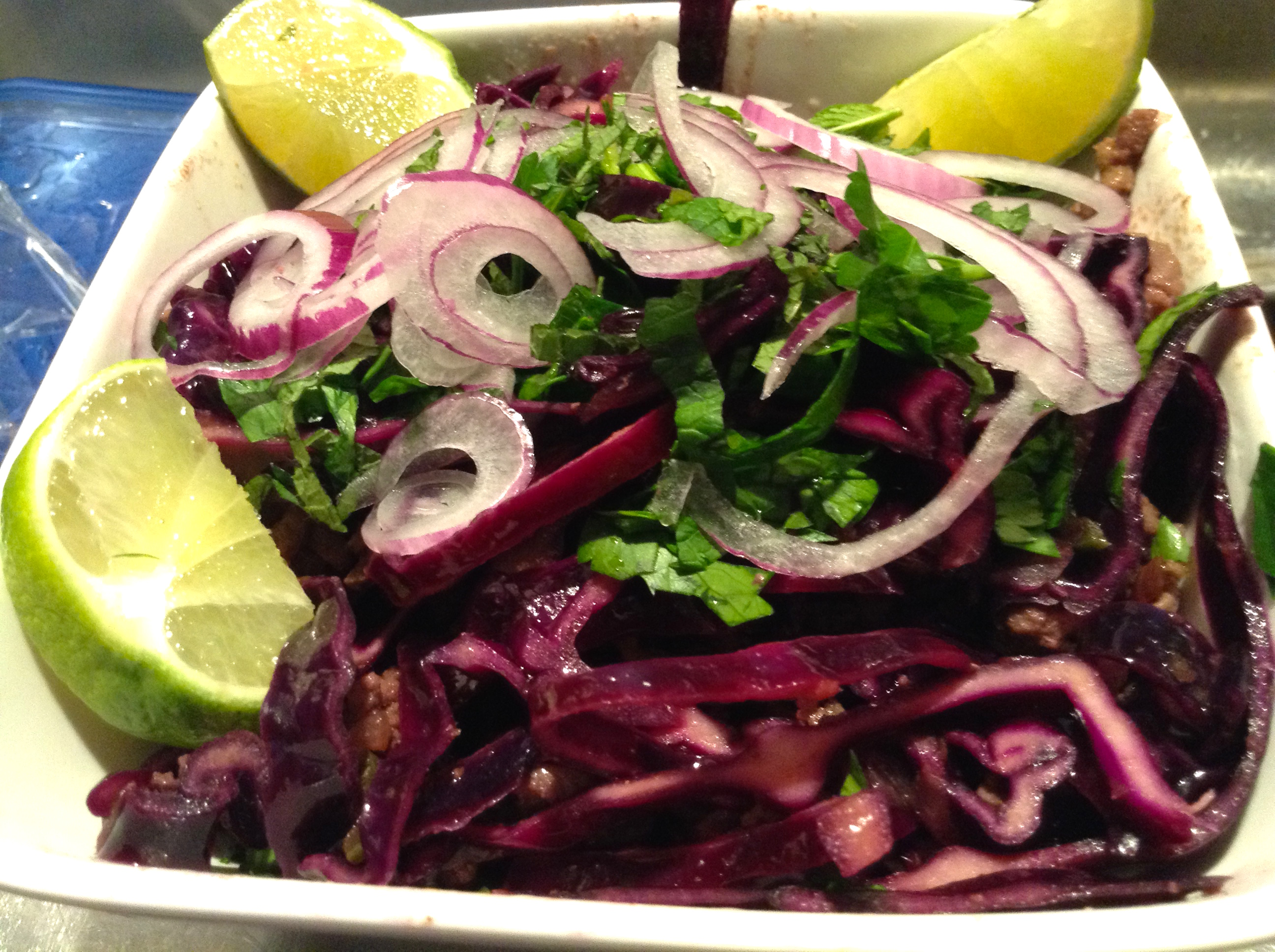 Vietnamese Beef and Red Cabbage Bowl Heather
