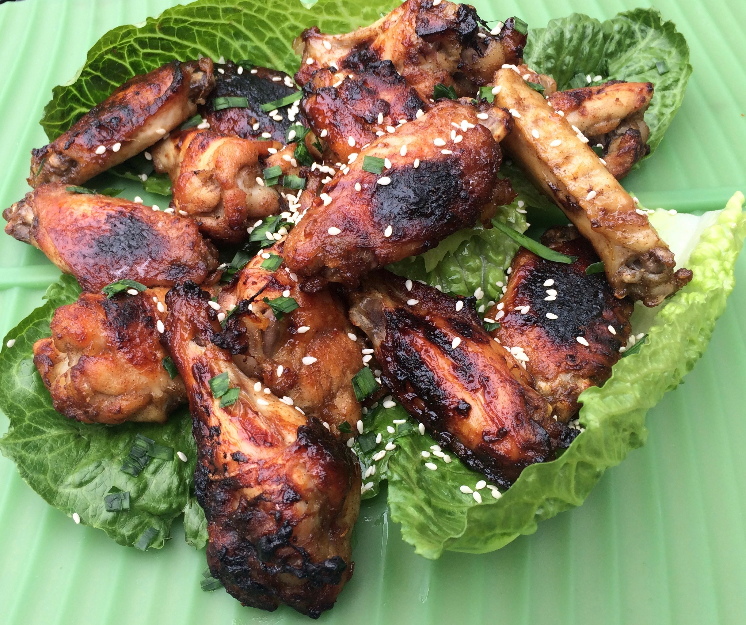 Sticky Orange Marmalade Chicken Wings