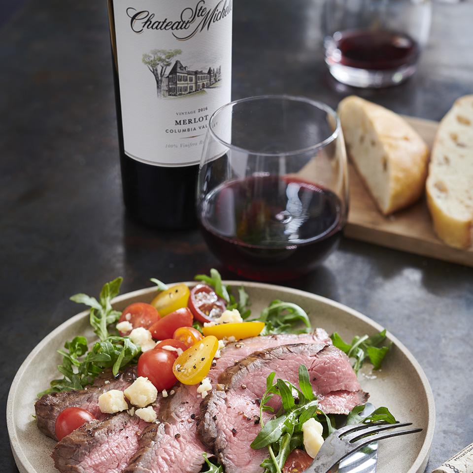 Balsamic-Grilled Flank Steak and Arugula Salad